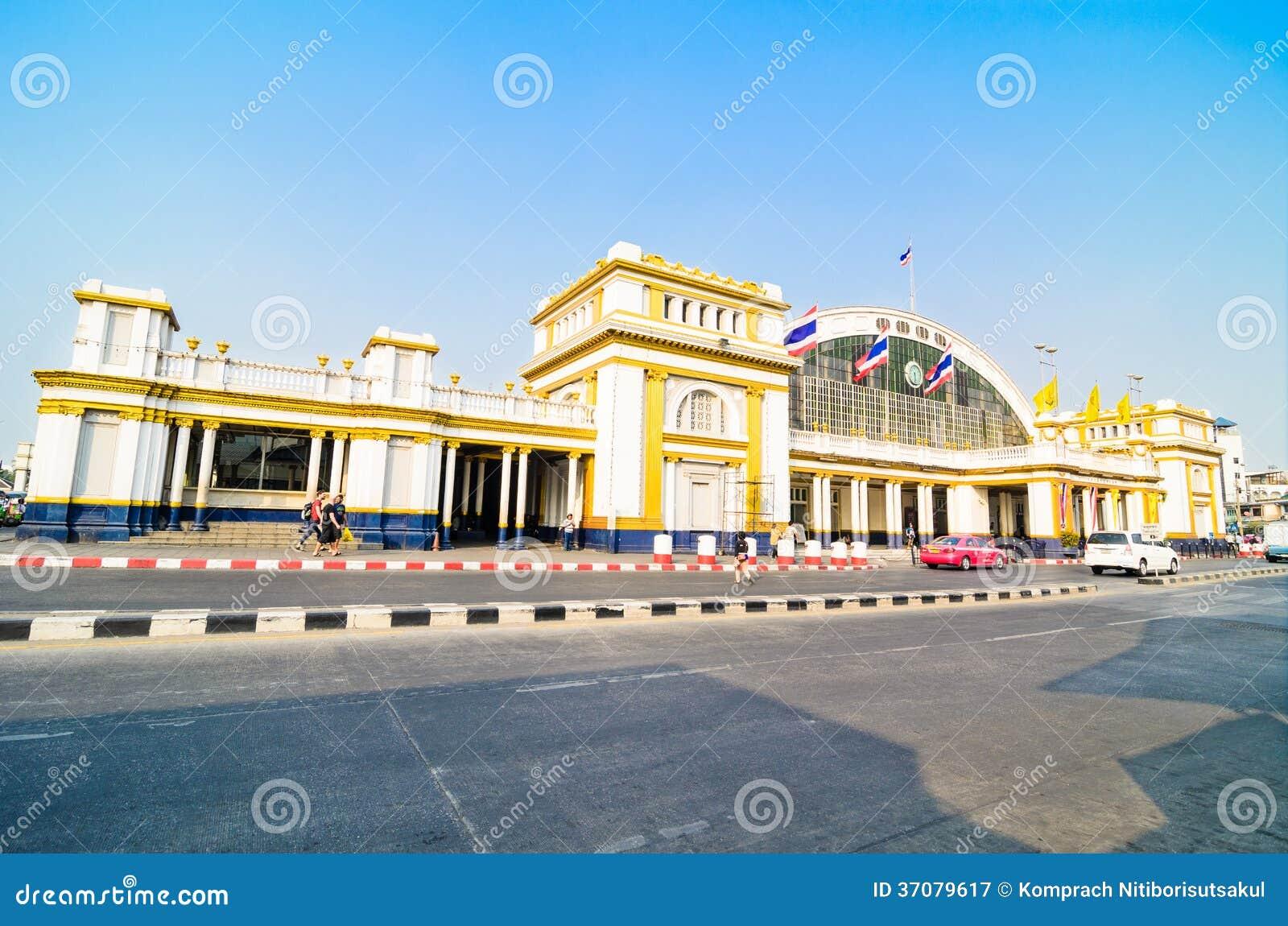 Download Hua Lamphong Uroczysta Środkowa Stacja Kolejowa Fotografia Editorial - Obraz złożonej z bilet, kolej: 37079617
