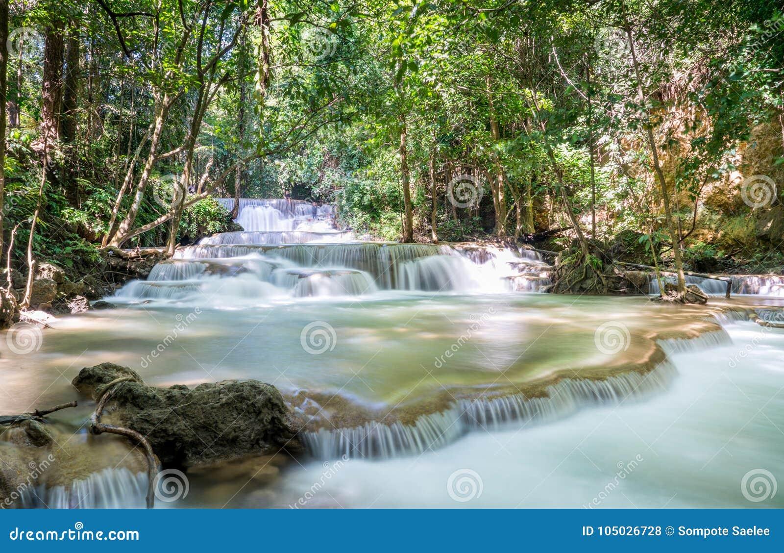 Huai Mae Khamin Waterfall : Rangée 1, Kanchanaburi, Thaïlande