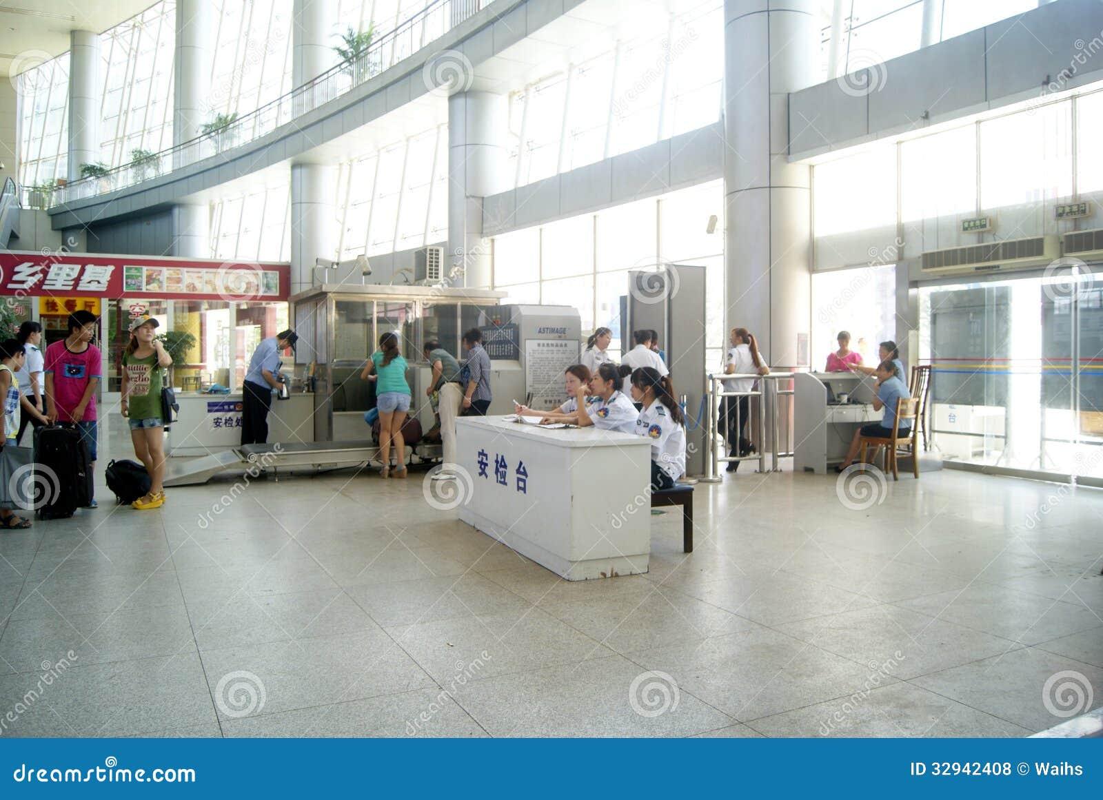 Huaihua China  City new picture : Huaihua China: Train Station Waiting Room Editorial Stock Photo ...