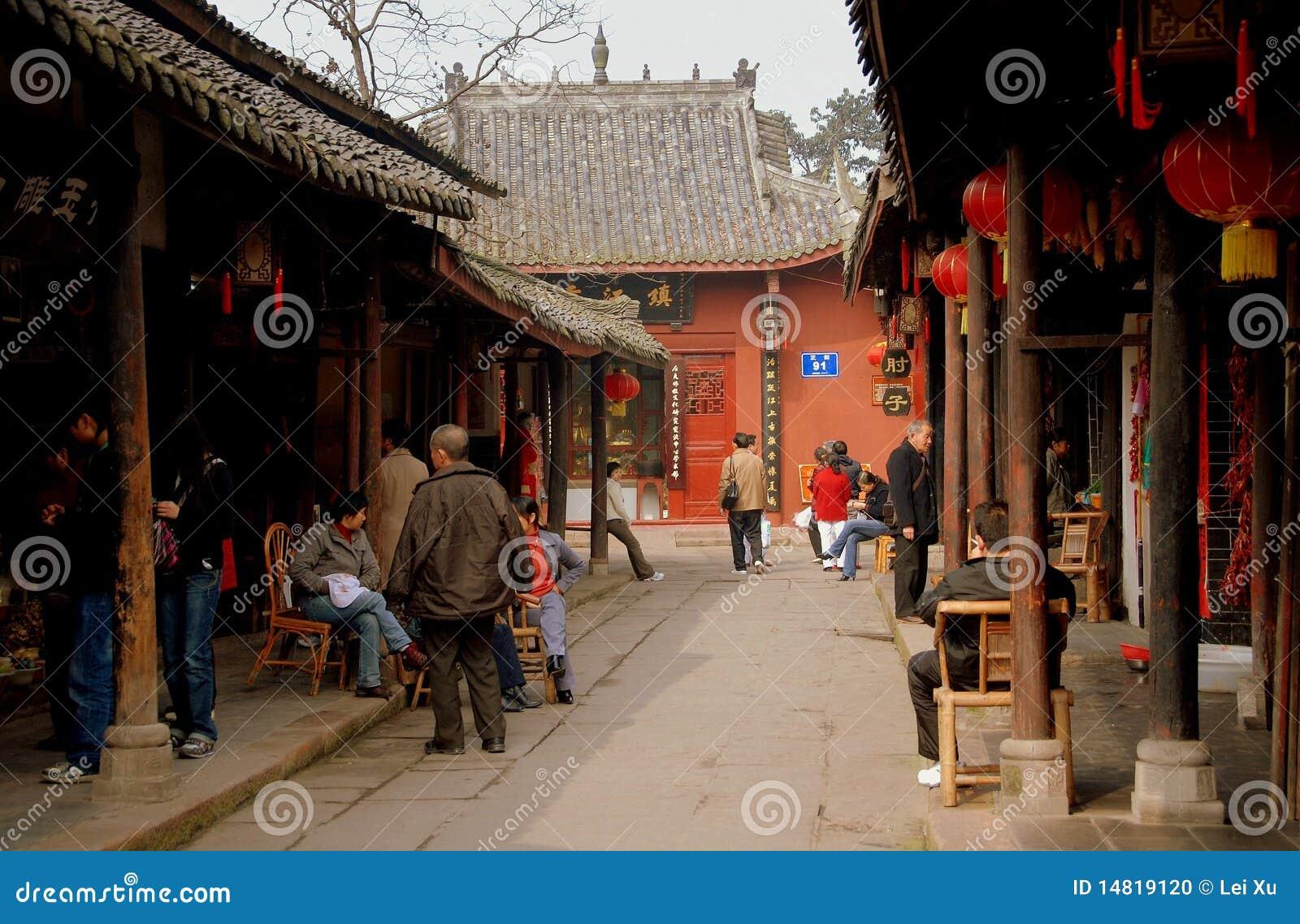 Huang De Largo XI, China: Casas De Madera Antiguas Imagen ... - photo#38