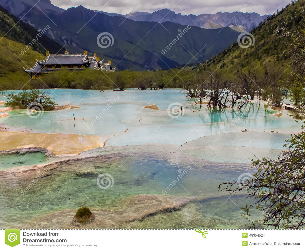 Huanglong, China Stock Photo - Image: 48354524