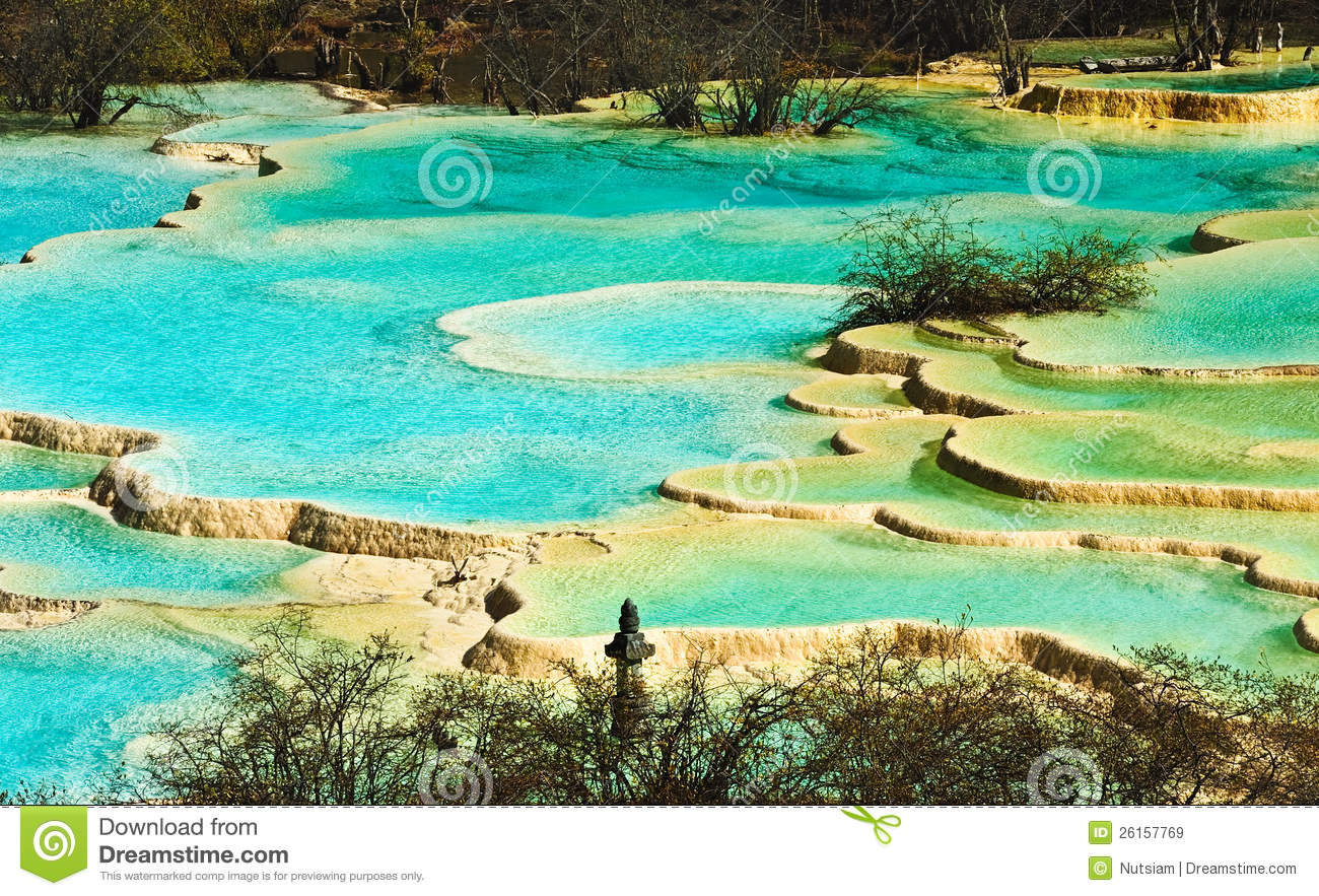 Huanglong Mineral Pool Royalty Free Stock Images Image