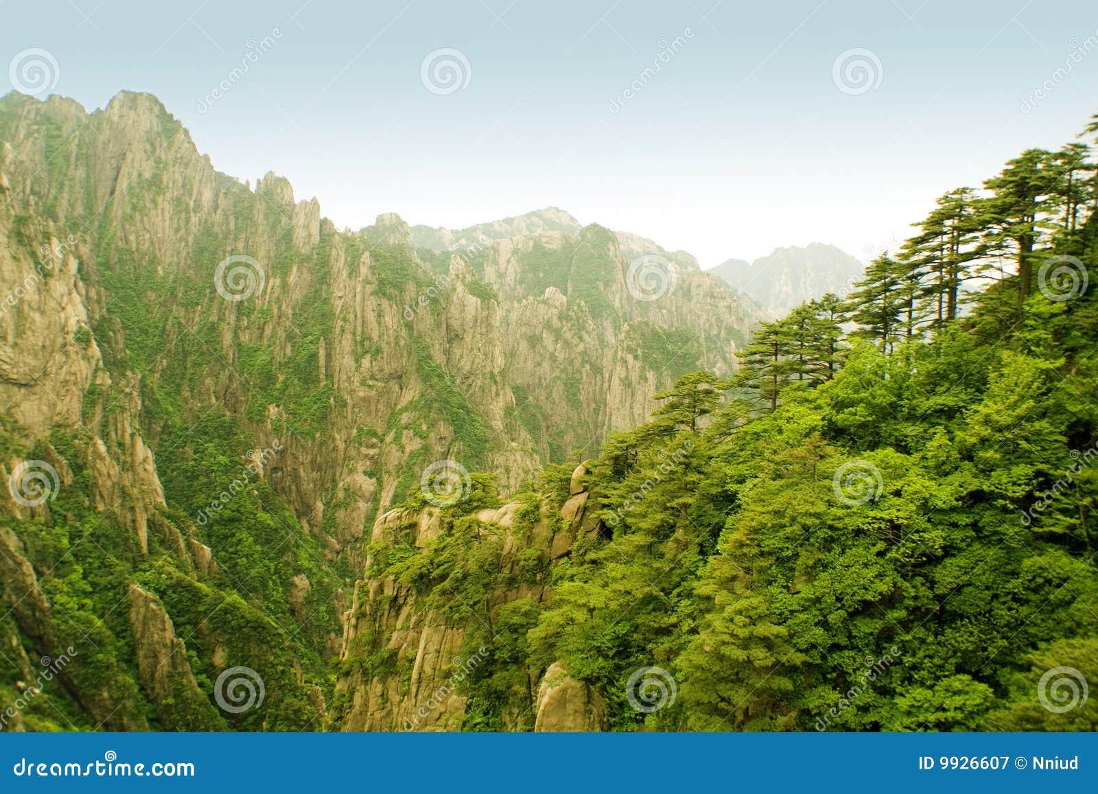 Huangshan απίστευτος της Κίνας