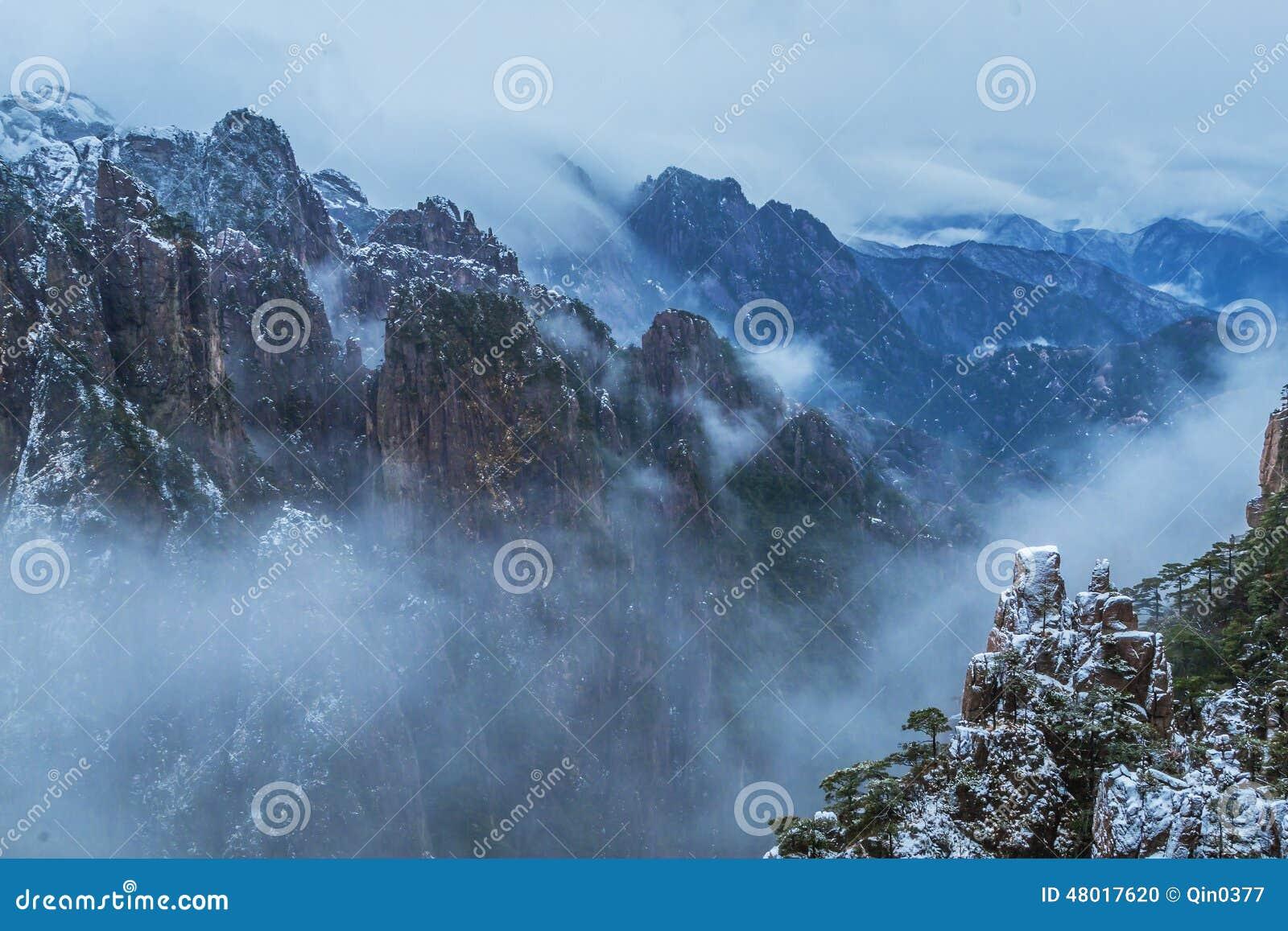 Huangshan βουνό της Κίνας
