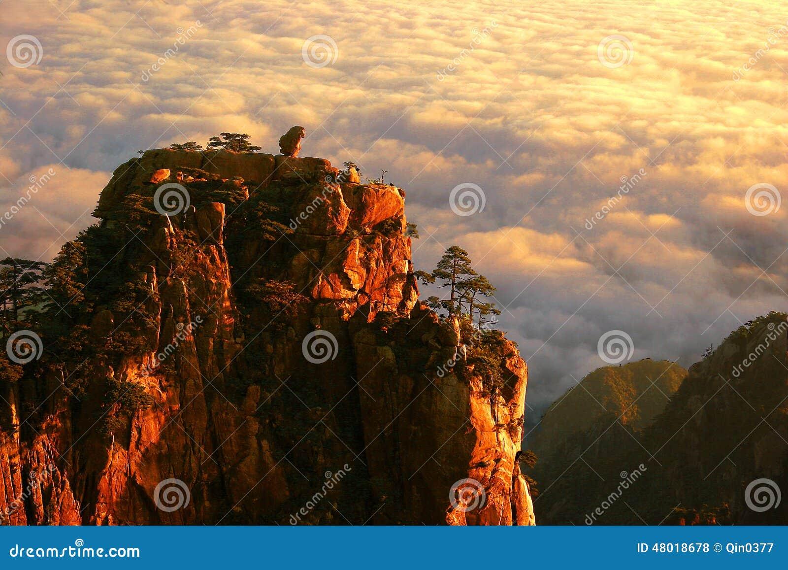 Huangshan mountain in China