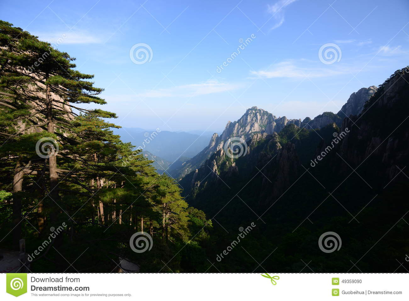 Huangshan, a mountain range in South Eastern China.
