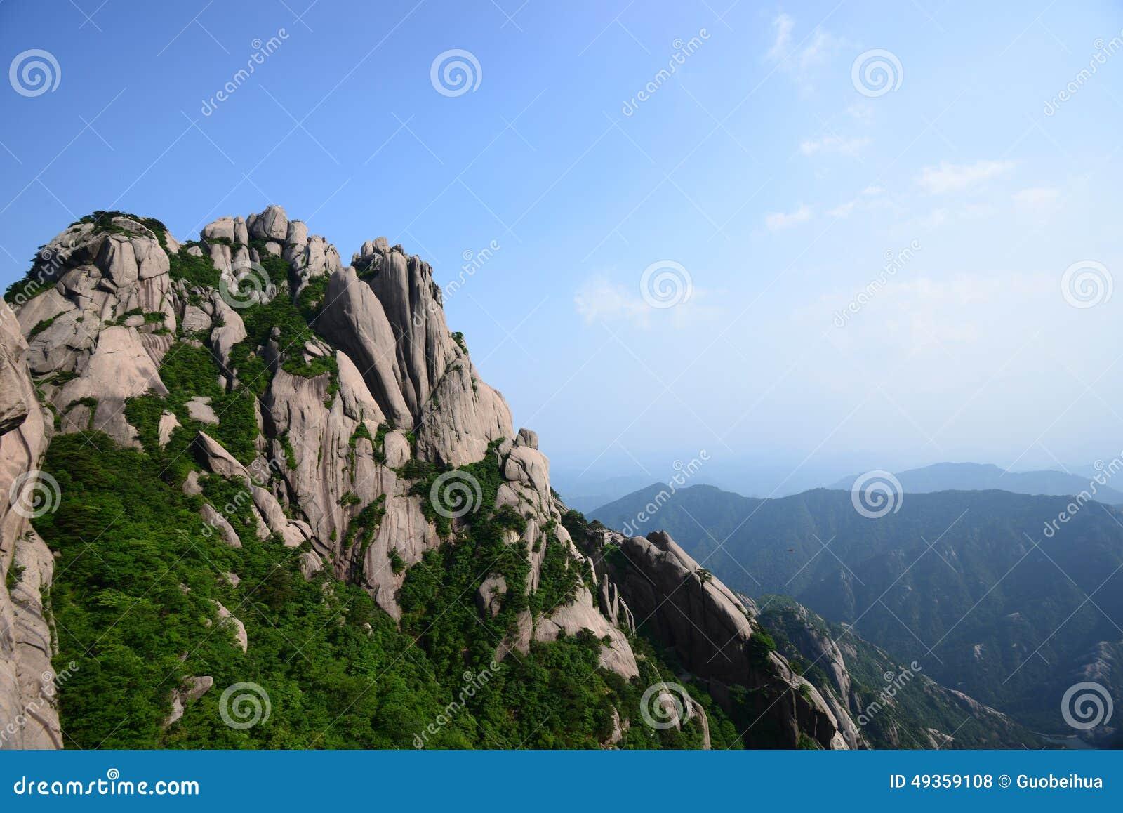 Huangshan, a mountain range in South Eastern China.