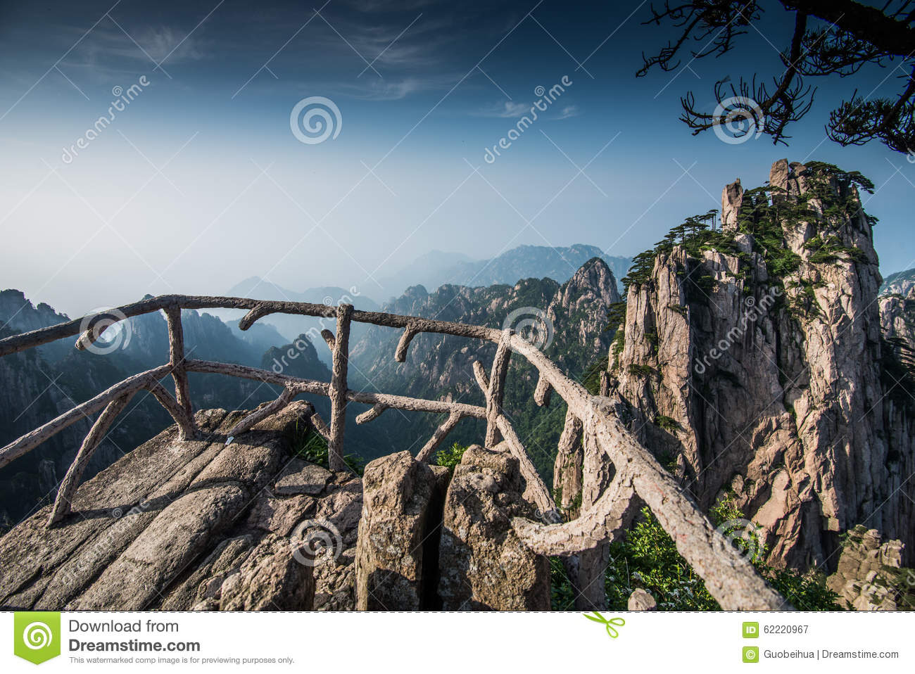 Huangshan, is a mountain range in southern Anhui province in eastern ...