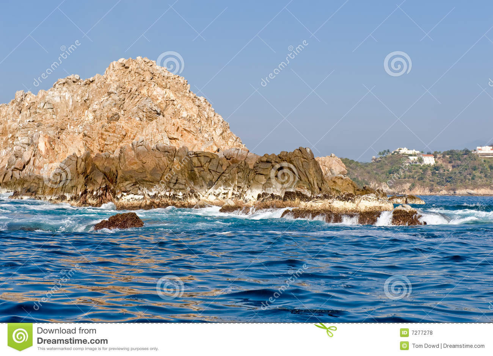 Huatulco береговой линии утесистое