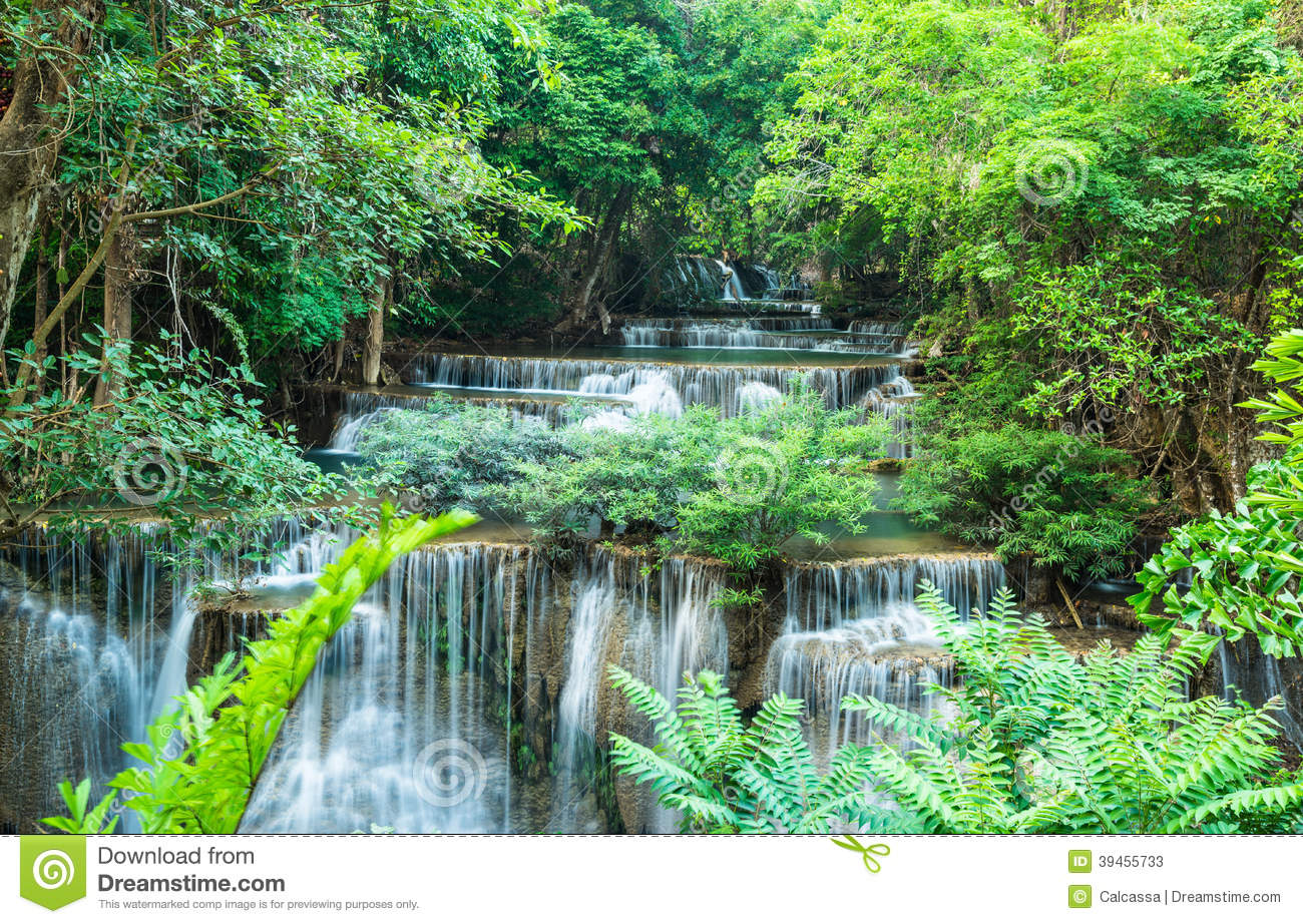 Huay Mae Khamin Waterfalls At Sri Nakarin National Park ...