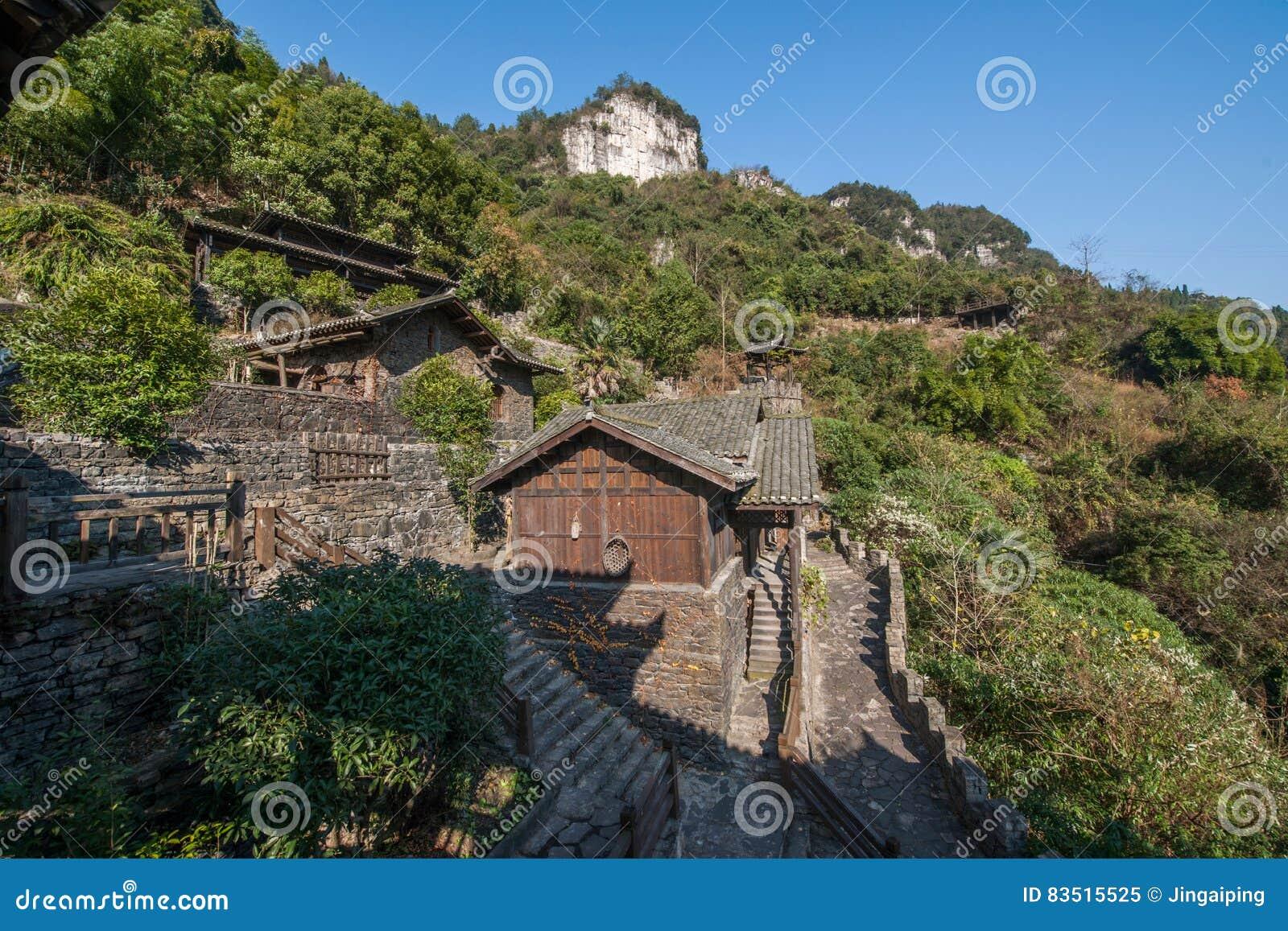 Hubei Yiling Yangtze River Three Gorges Dengying Xia i den Wang för lodisar för ` för `-Three Gorges folk stugan