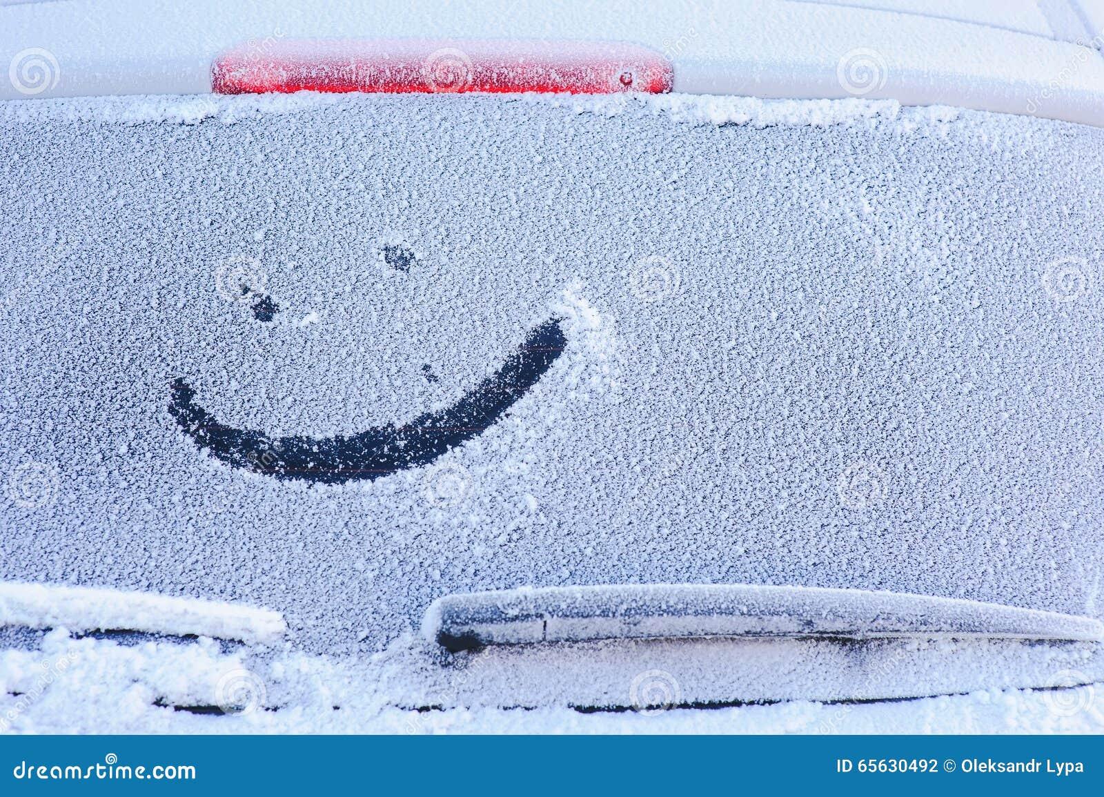 Hublot congelé par véhicule