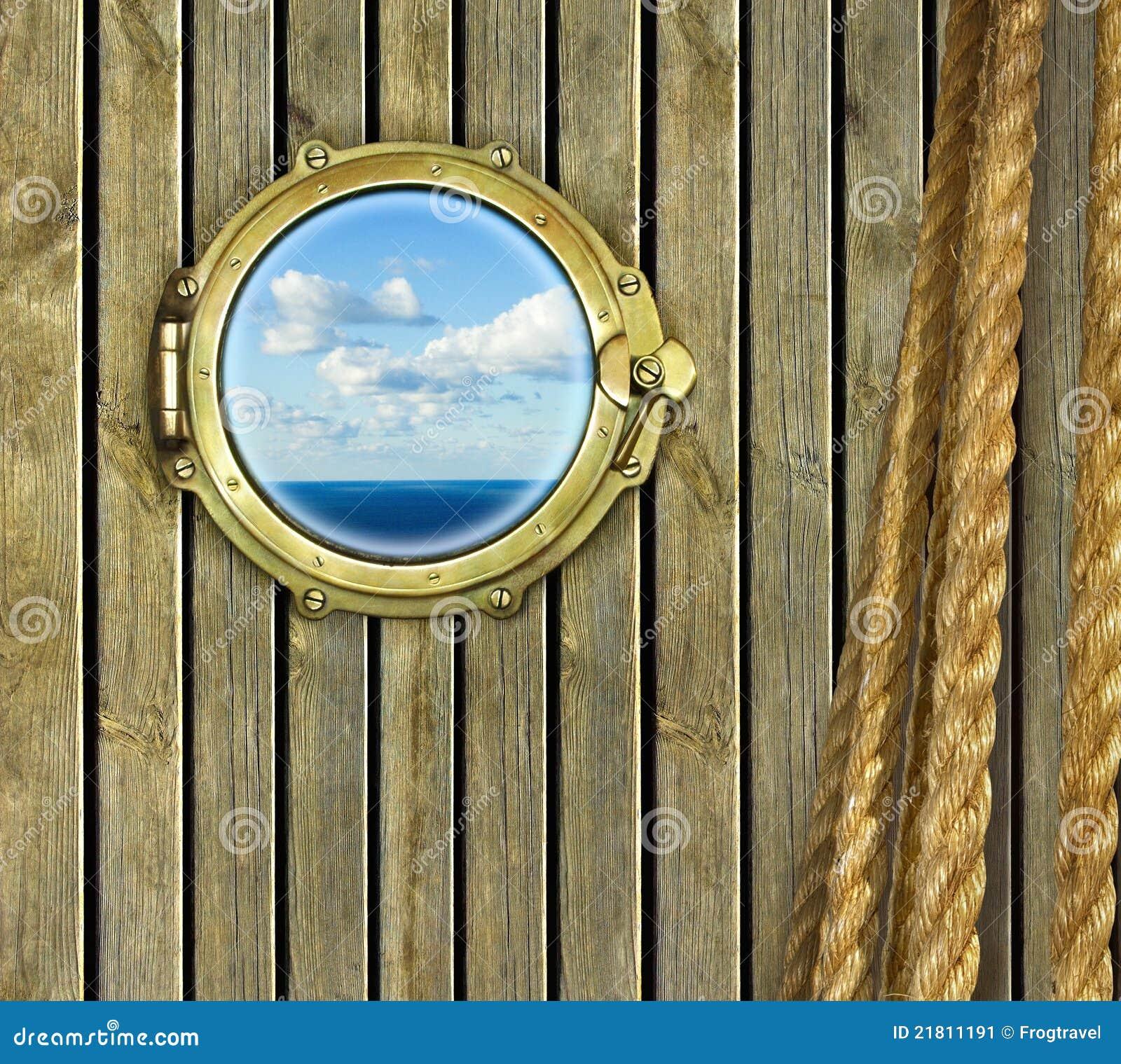 hublot de bateau image stock image du fond corde nautique 21811191. Black Bedroom Furniture Sets. Home Design Ideas