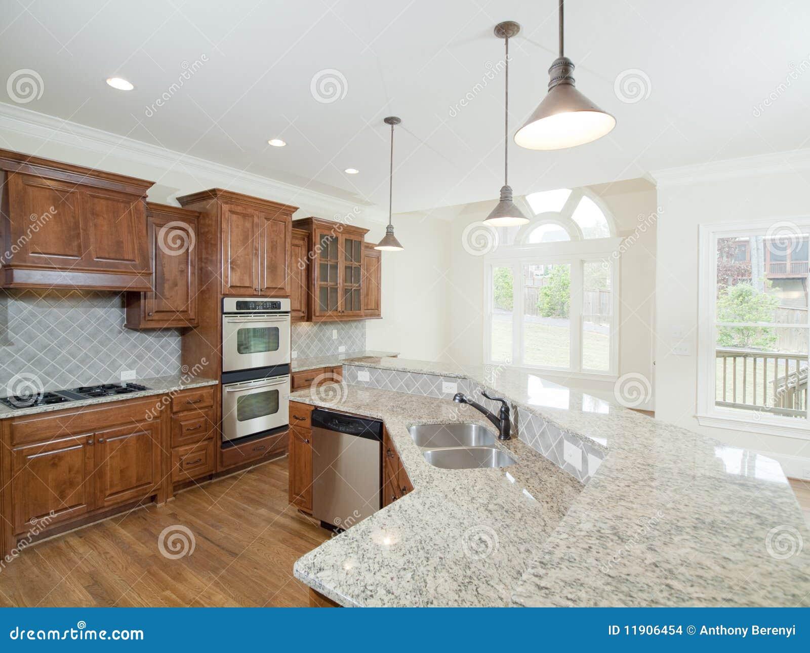 Hublots intérieurs à la maison de luxe modèles de voûte de cuisine images stock