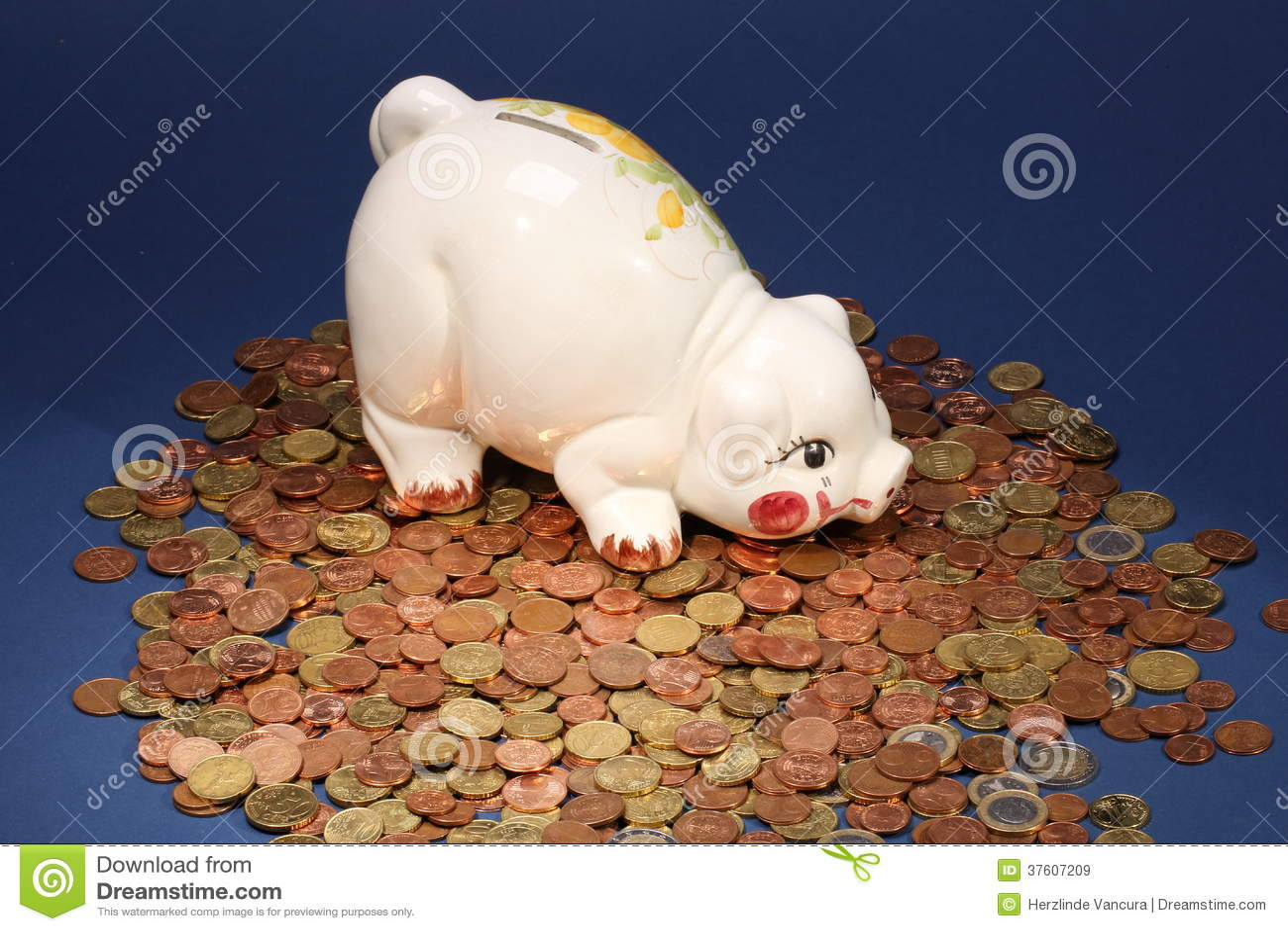 Hucha en monedas