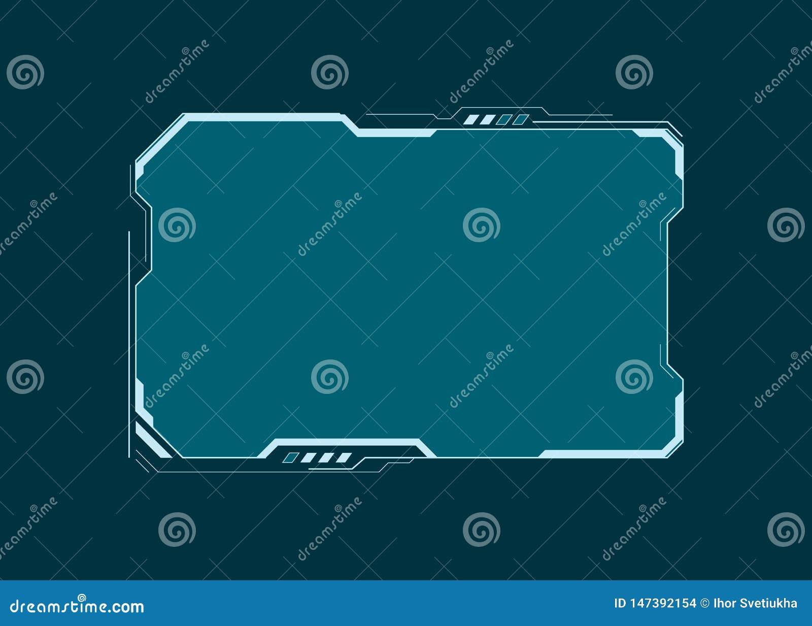 HUD未来派用户界面屏幕组成元素 真正仪表板 抽象控制板布局设计 科学幻想小说真正技术显示