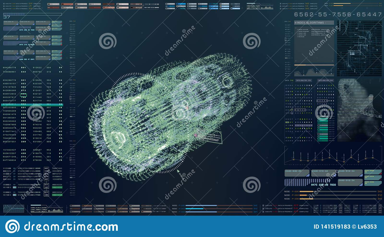 HUD Biomedical Diagnostic futurista