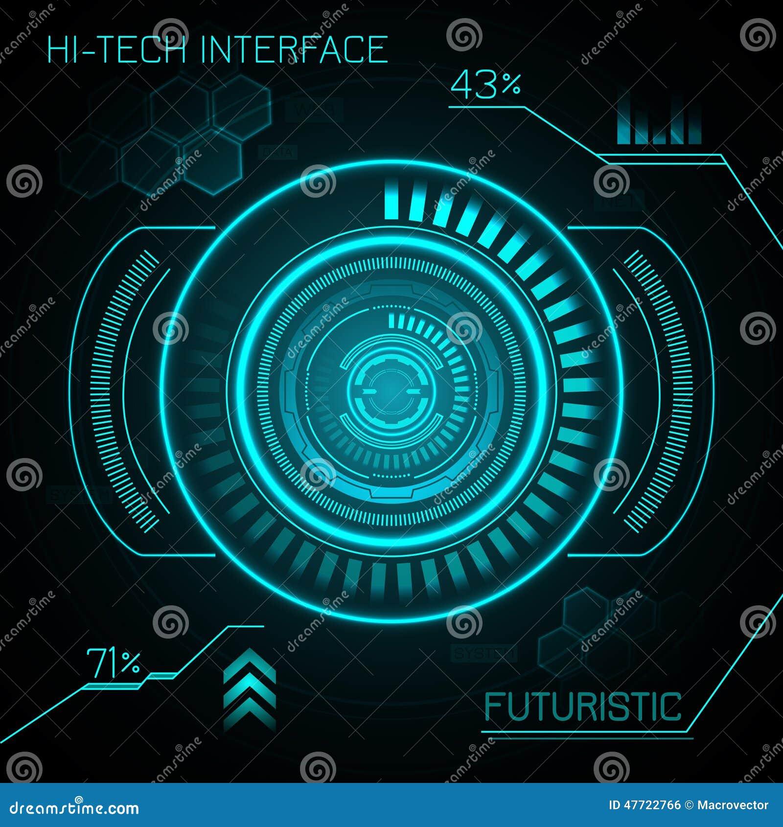 Hud Futuristic Background Stock Vector. Illustration Of