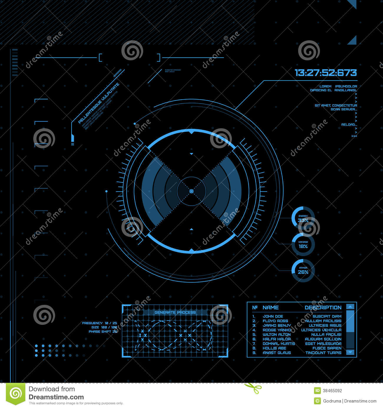 HUD And GUI Set. Futuristic User Interface. Stock ...