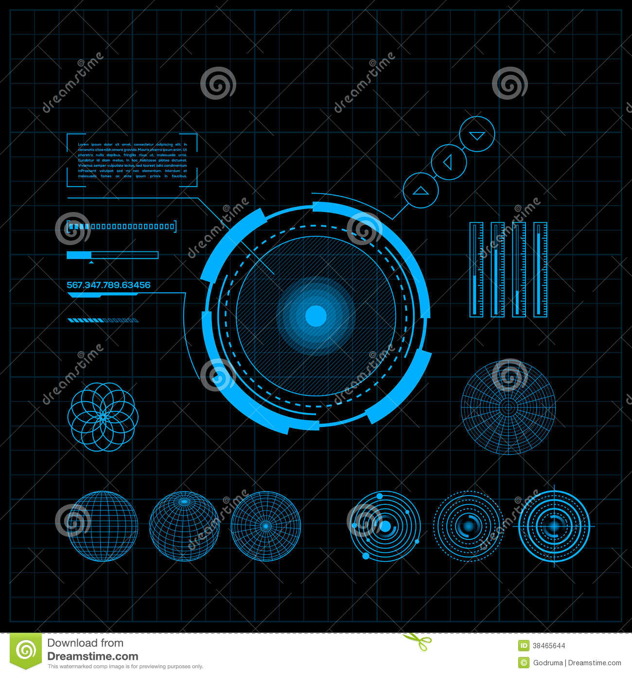 HUD And GUI Set. Futuristic User Interface. Stock Vector ...