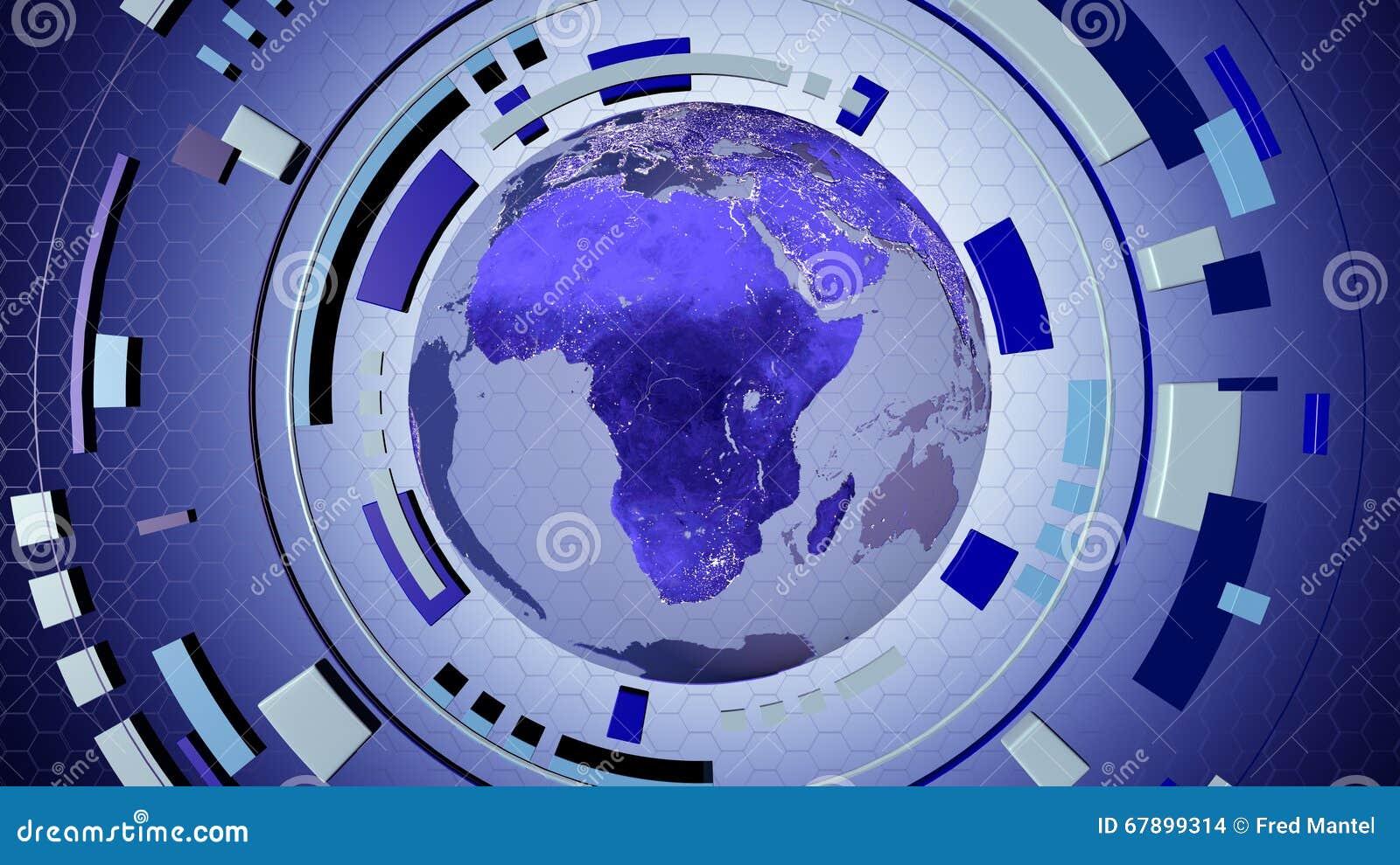 Hud interattivo di media con un globo della terra