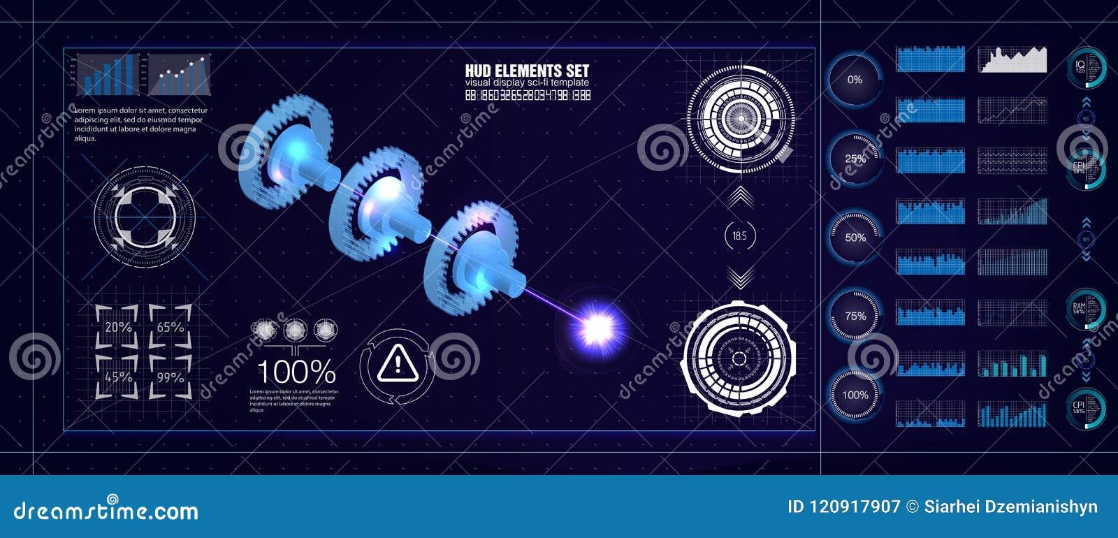Hud ui style industrial aerospase blueprint vector illustration of download comp malvernweather Images