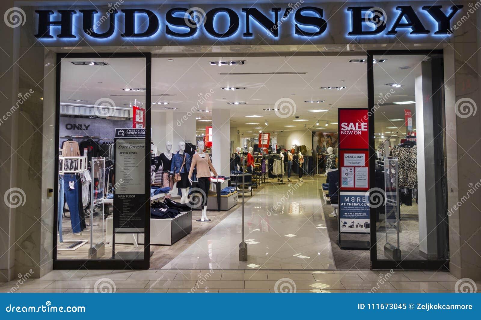 Hudson S Bay.Hudson S Bay Store Entrance In Calgary Alberta Market Mall