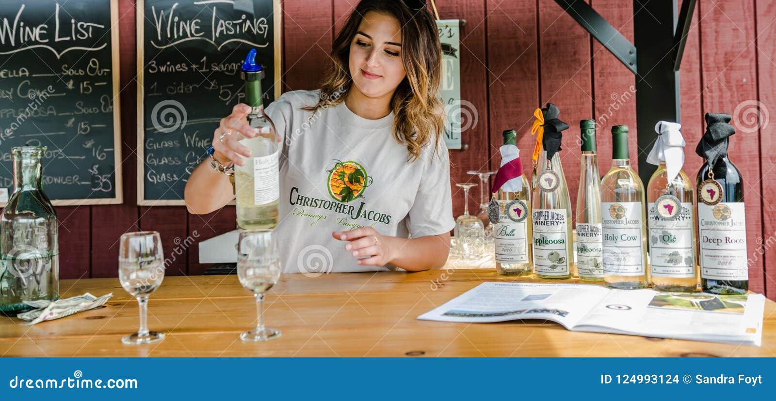 Hudson Valley Wine Tasting Station
