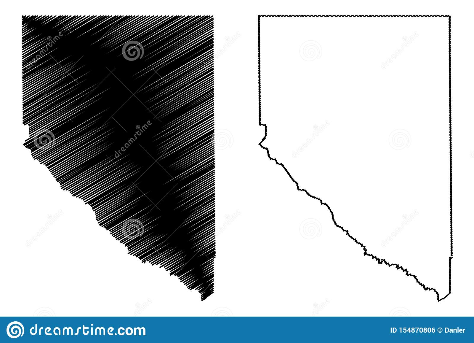 Hudspethprovincie, Texas Counties in Texas, de Verenigde Staten van Amerika, de V.S., U S , De kaart vectorillustratie van de V.S