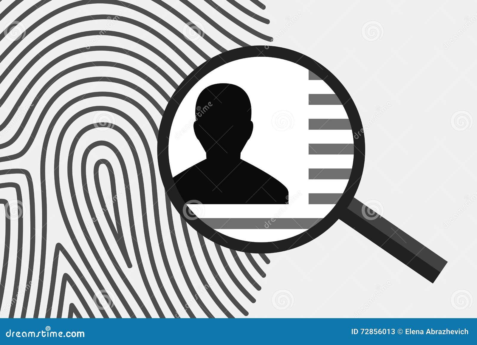Huella dactilar e información personal