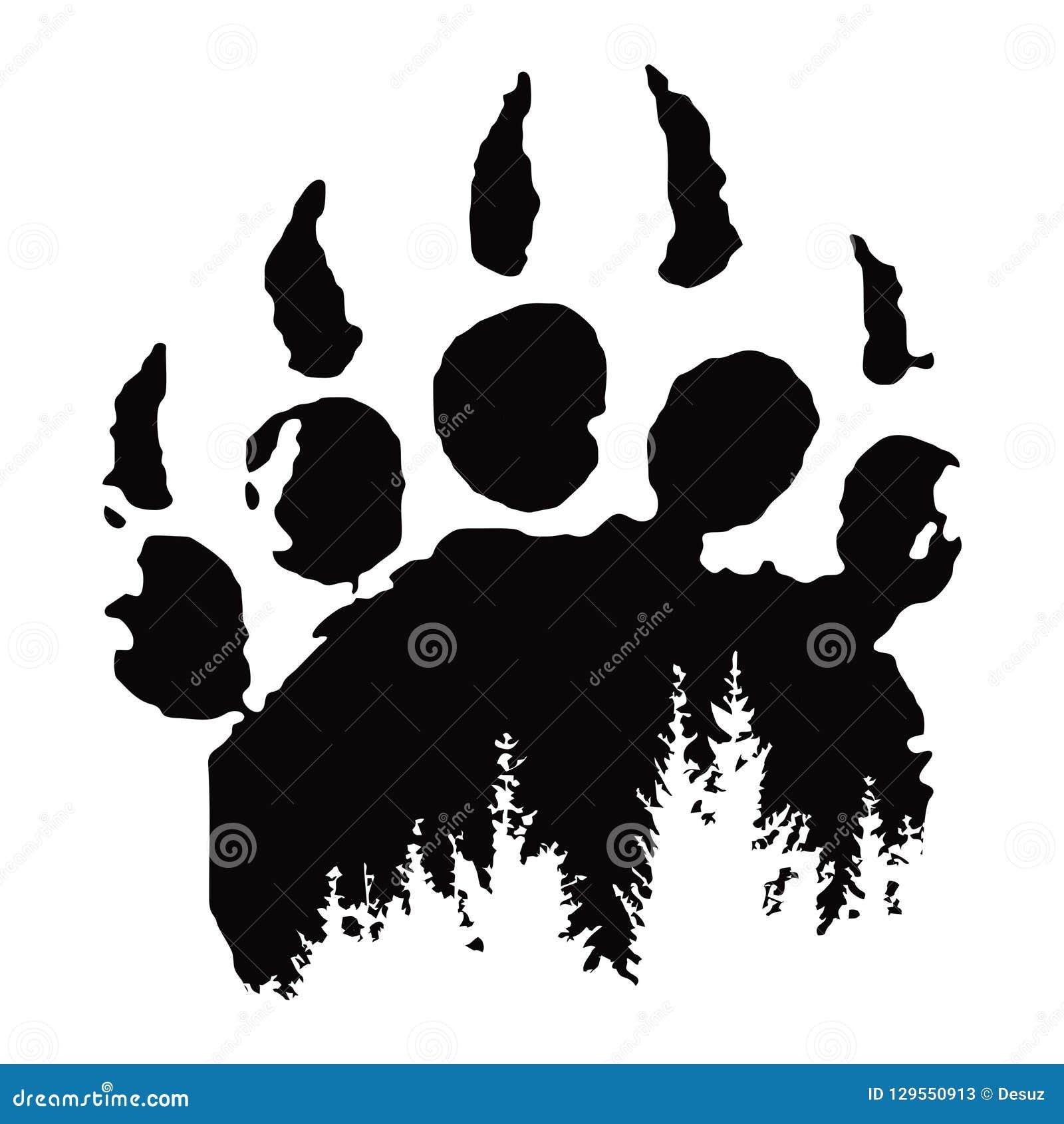 Huella, impresión de la pata de oso