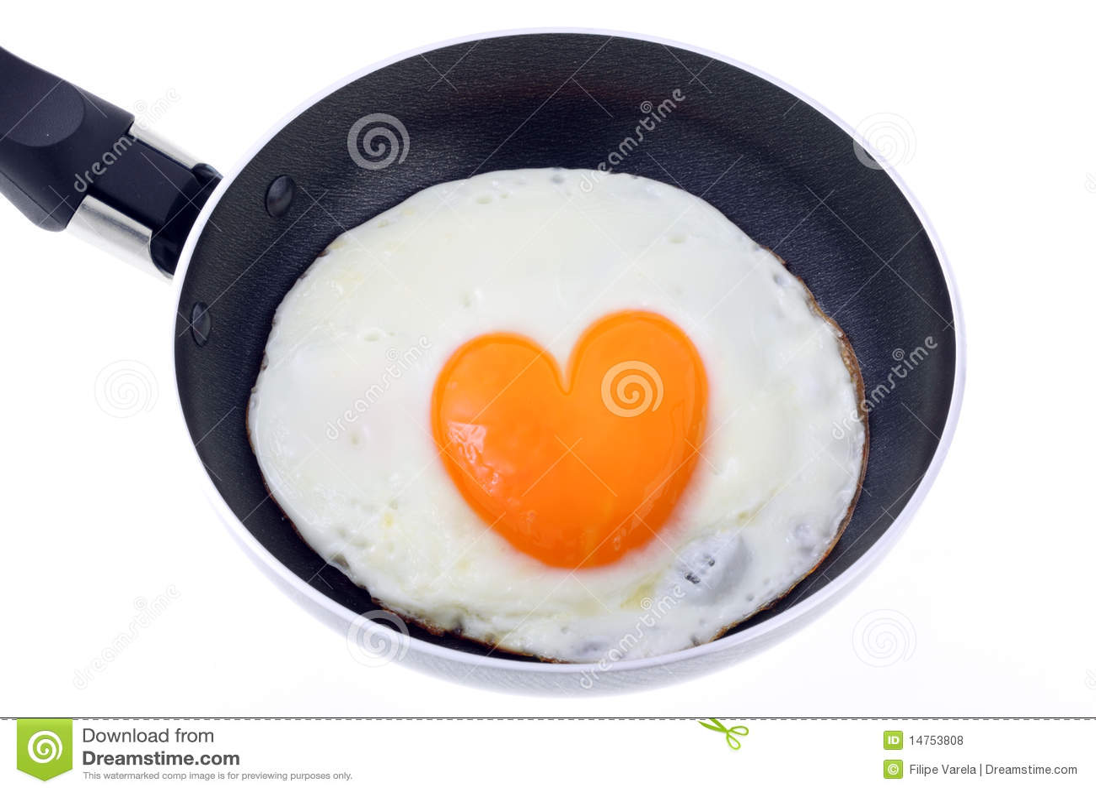 Huevo cocinado - forma del corazón