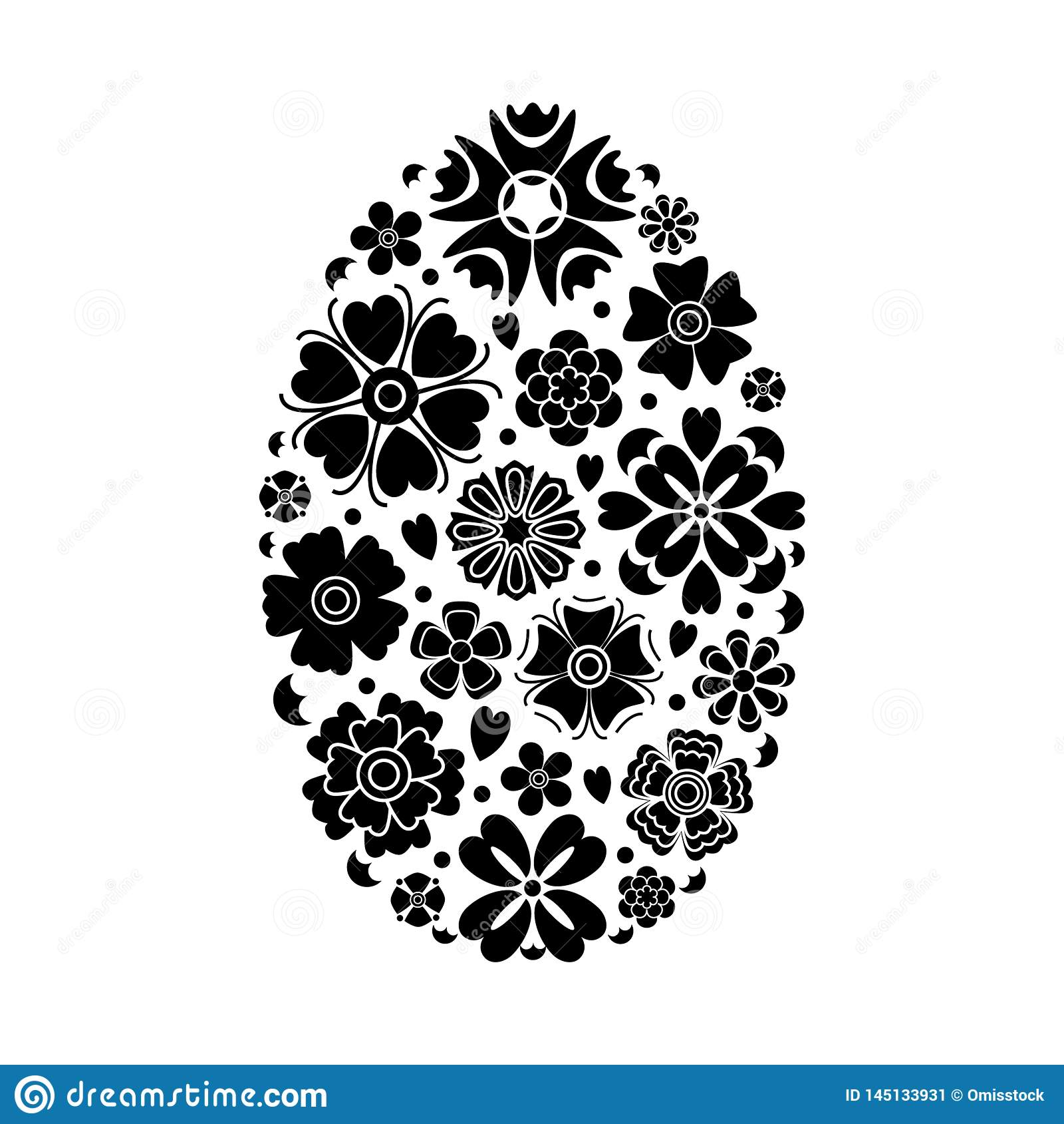 Huevo de Pascua del vector