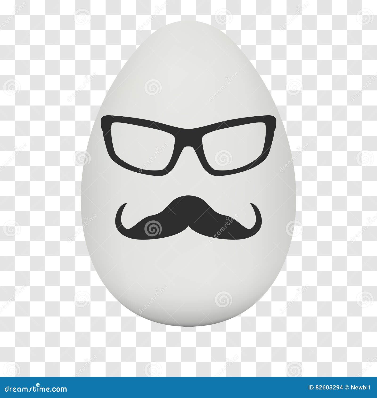 Huevo Del Pollo Con La Máscara Del Inconformista Vector Ilustración ...