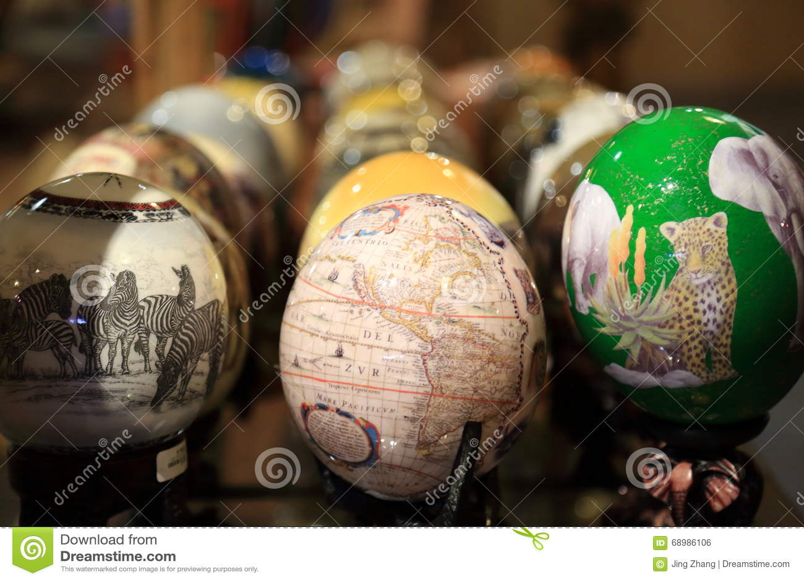 Huevos de la avestruz