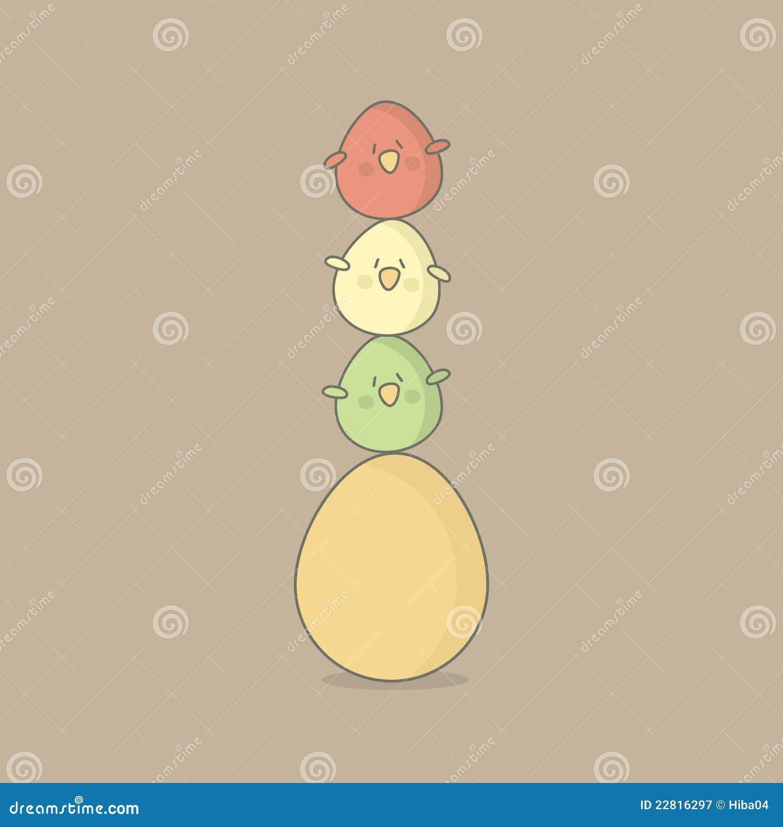 Huevos de los pájaros de Pascua