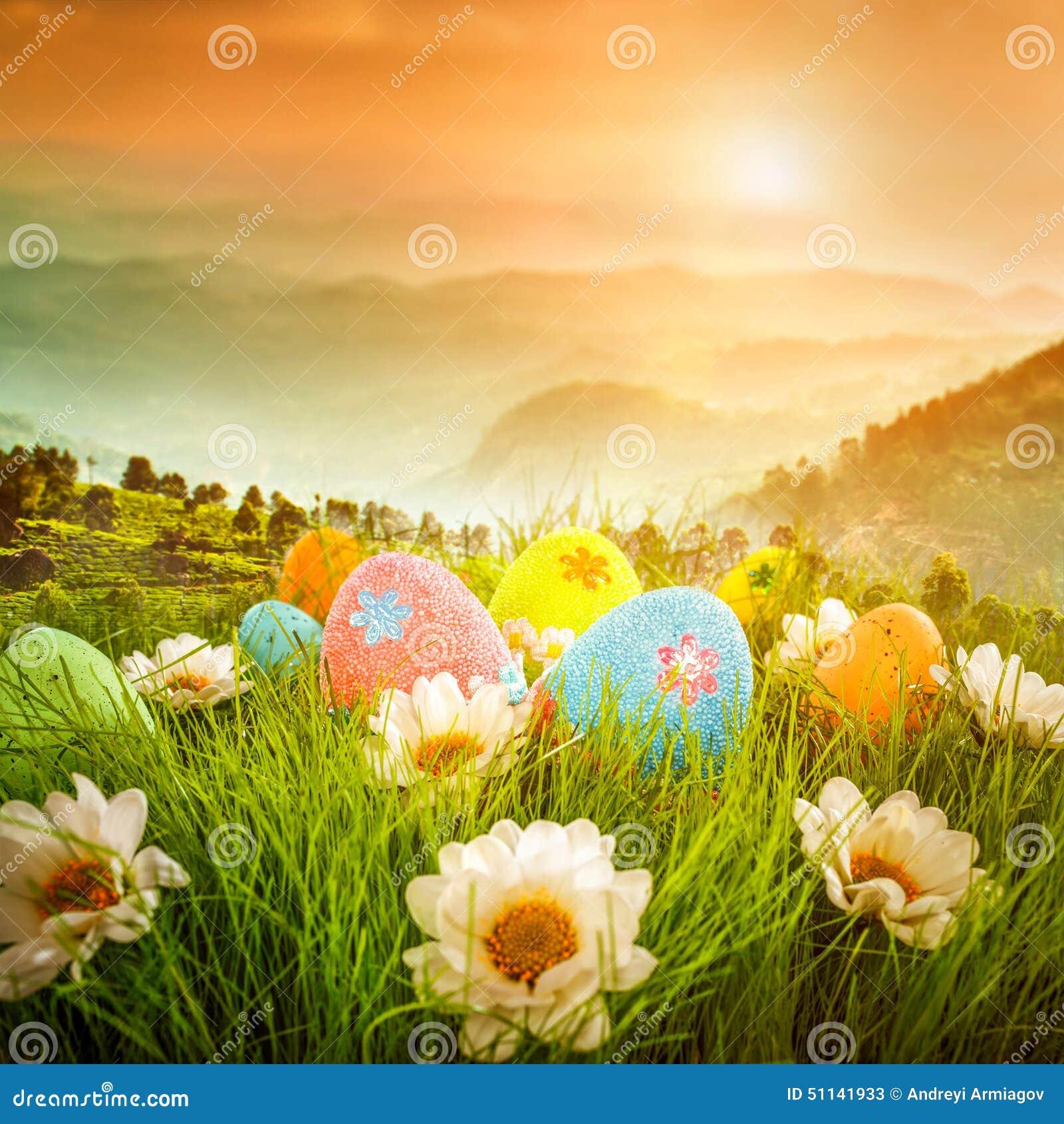 Huevos de Pascua adornados