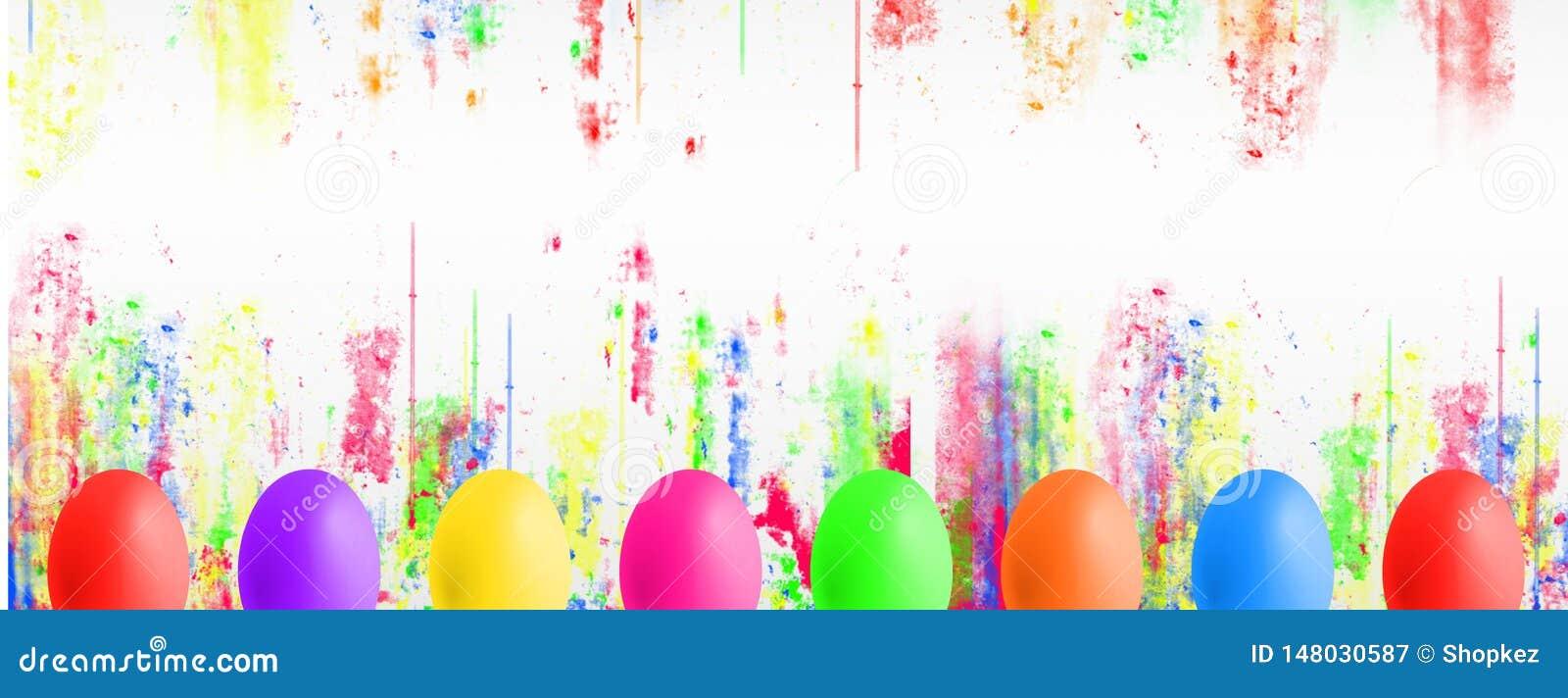 Huevos de Pascua coloridos con el copyspace