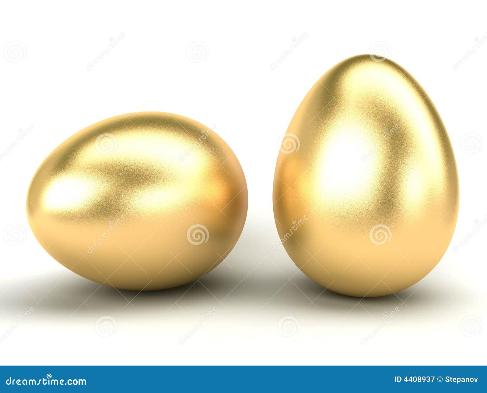 Huevos de Pascua del oro