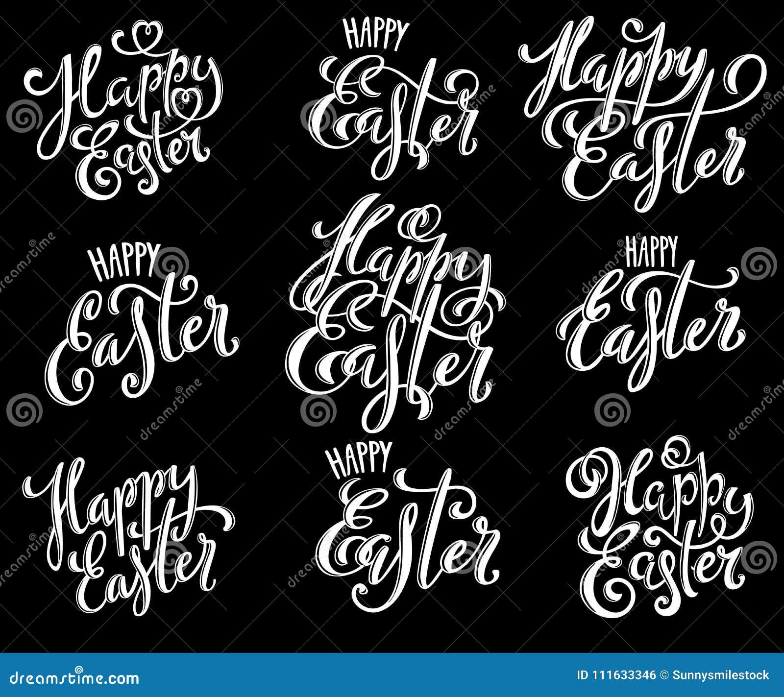 Huevos de Pascua felices ilustración del vector. Ilustración de ...