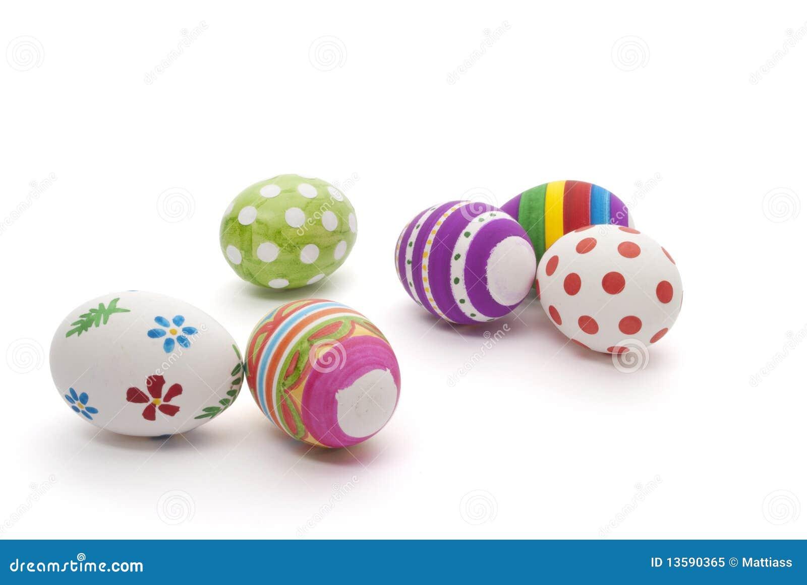 Huevos de Pascua pintados a mano