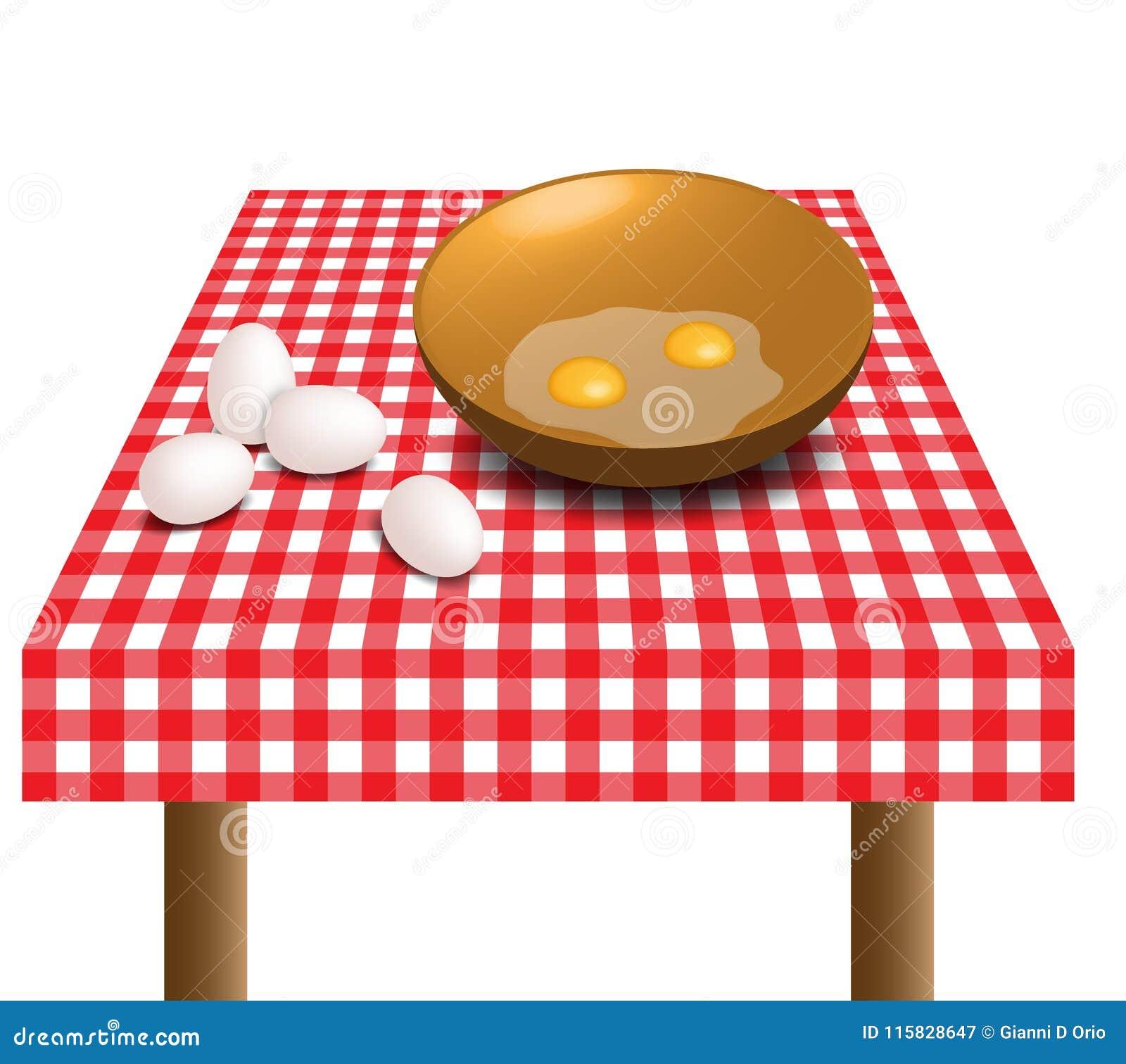Huevos en la tabla