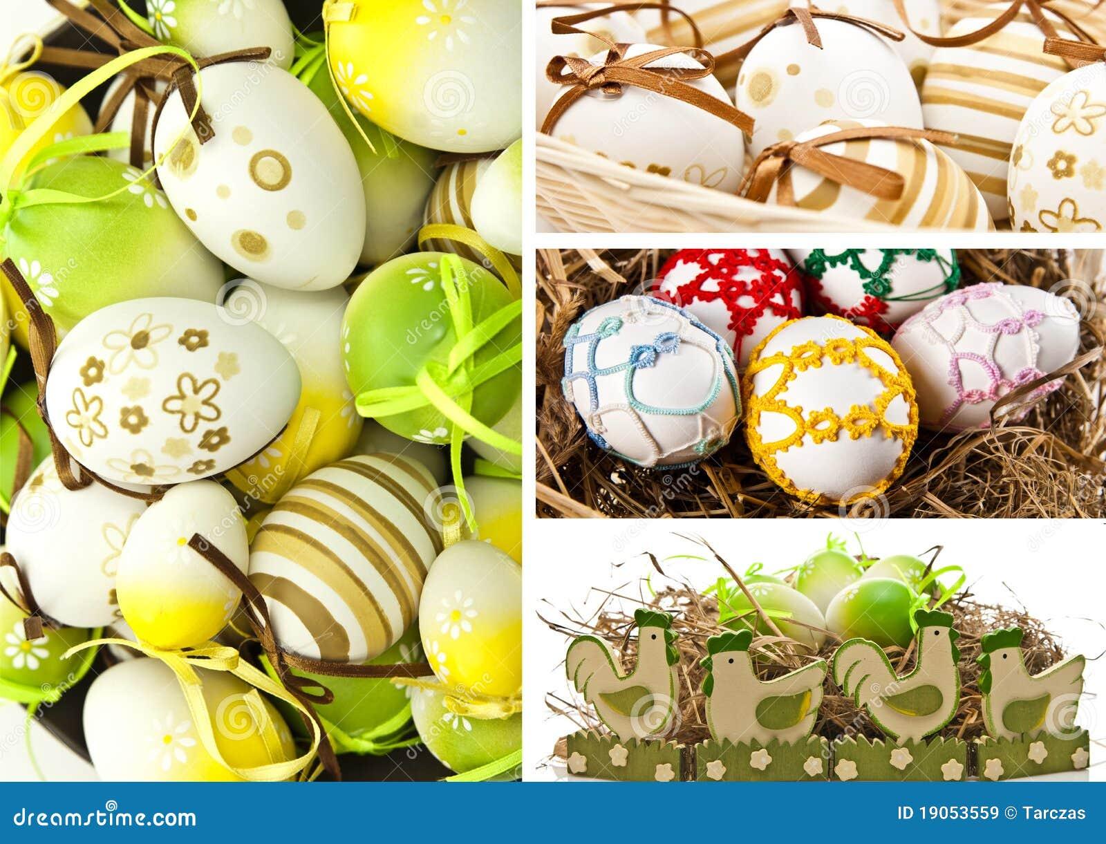 Huevos y pollo de Pascua