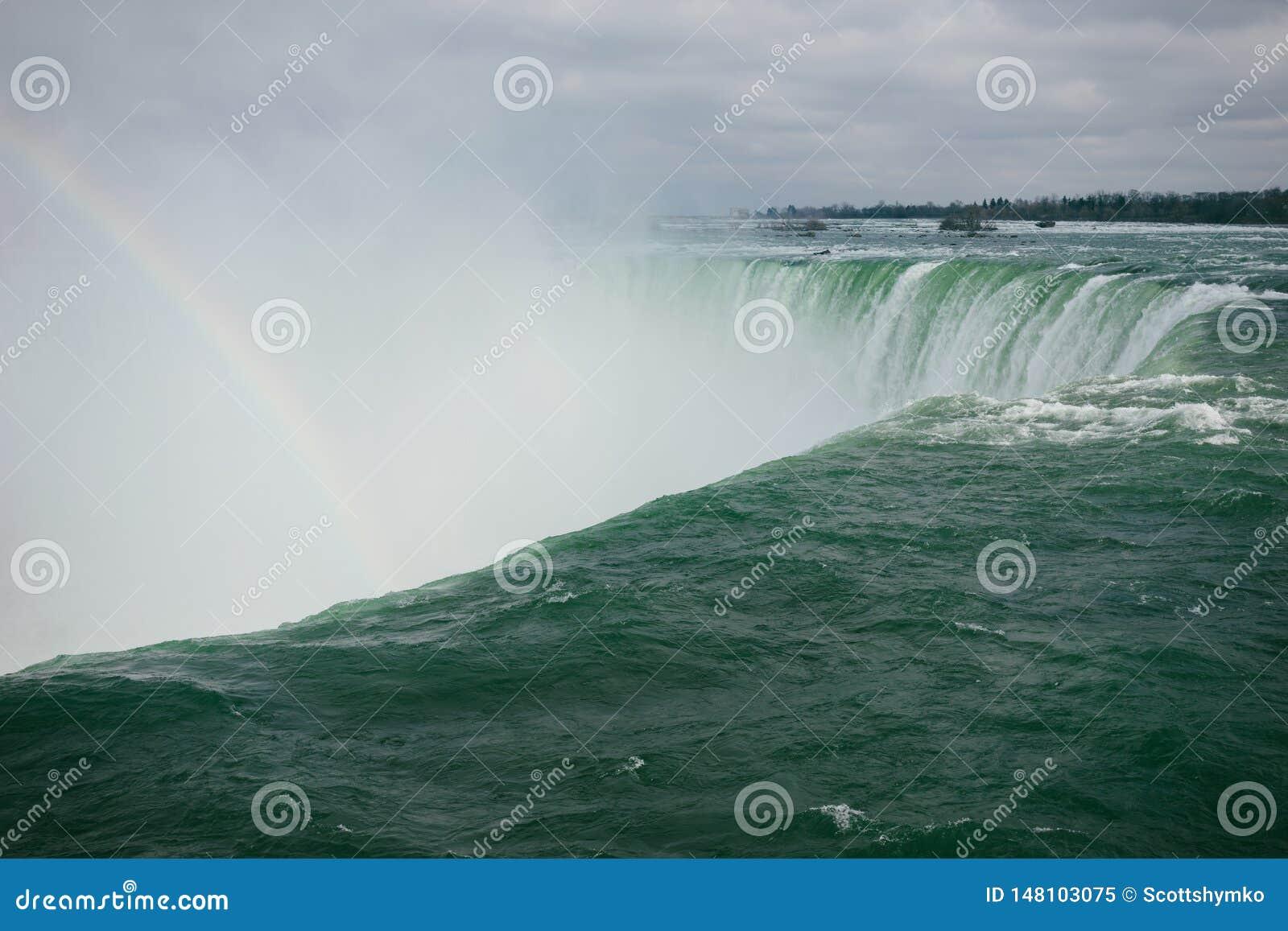 Hufeisenfälle mit einem Regenbogen, Niagara, Ontario