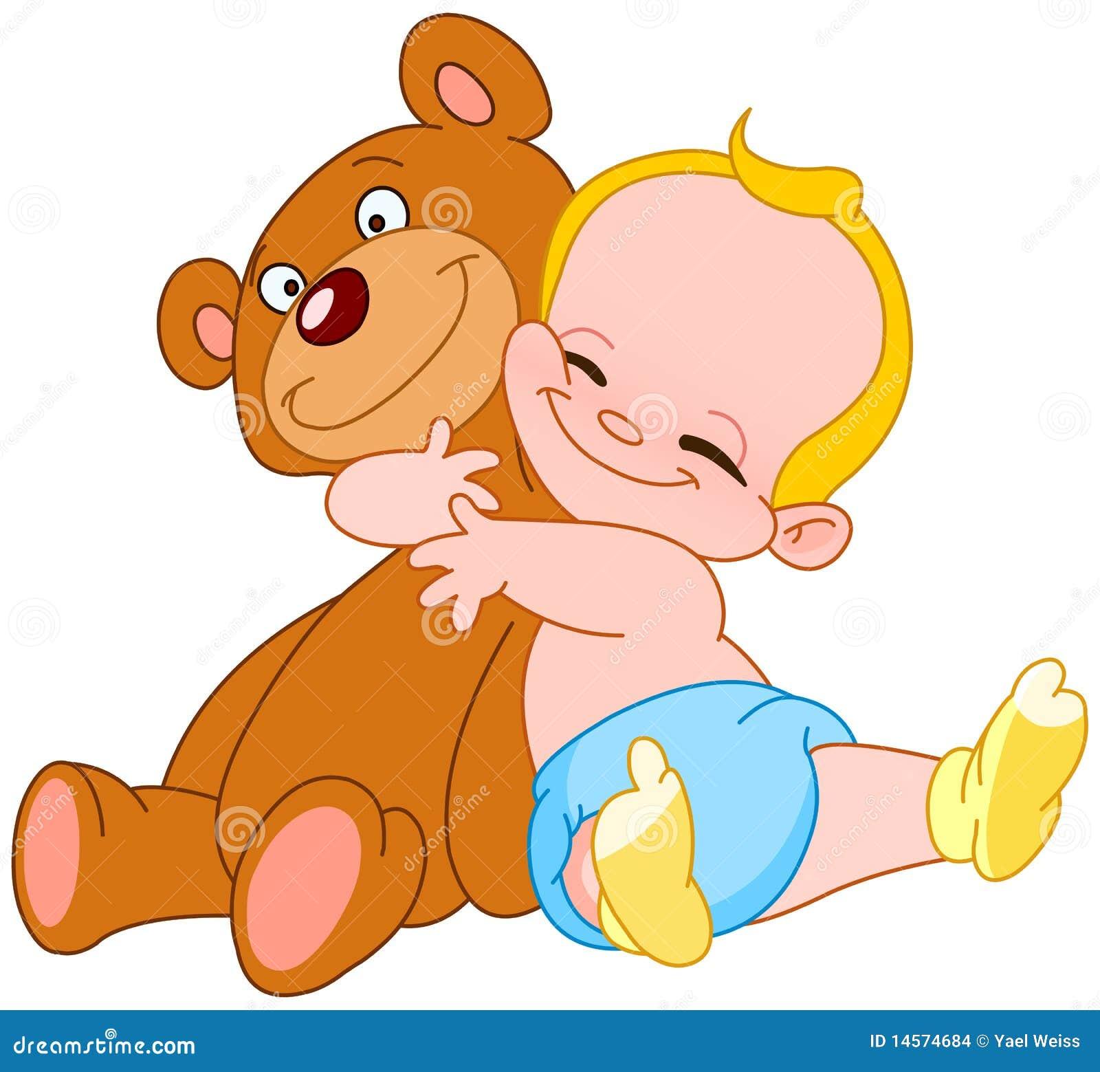 Hug медведя младенца