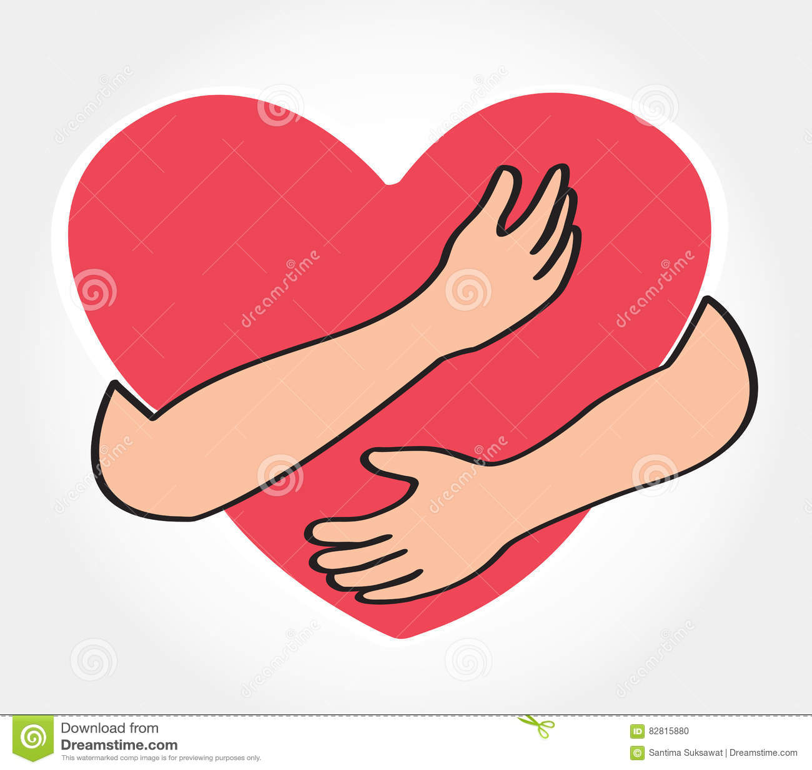 Hug the heart love yourself symbol stock vector illustration hug the heart love yourself symbol cute modern buycottarizona