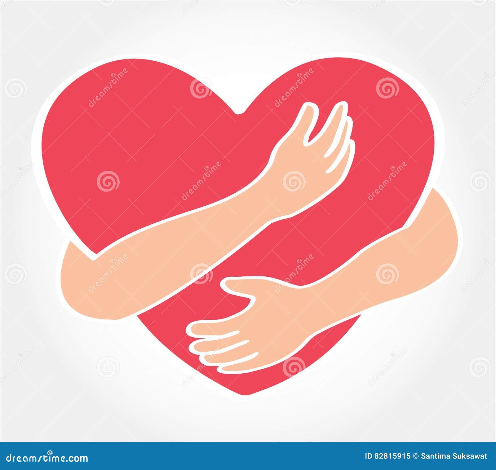 Hug the heart love yourself symbol stock vector illustration hug the heart love yourself symbol icon holding buycottarizona