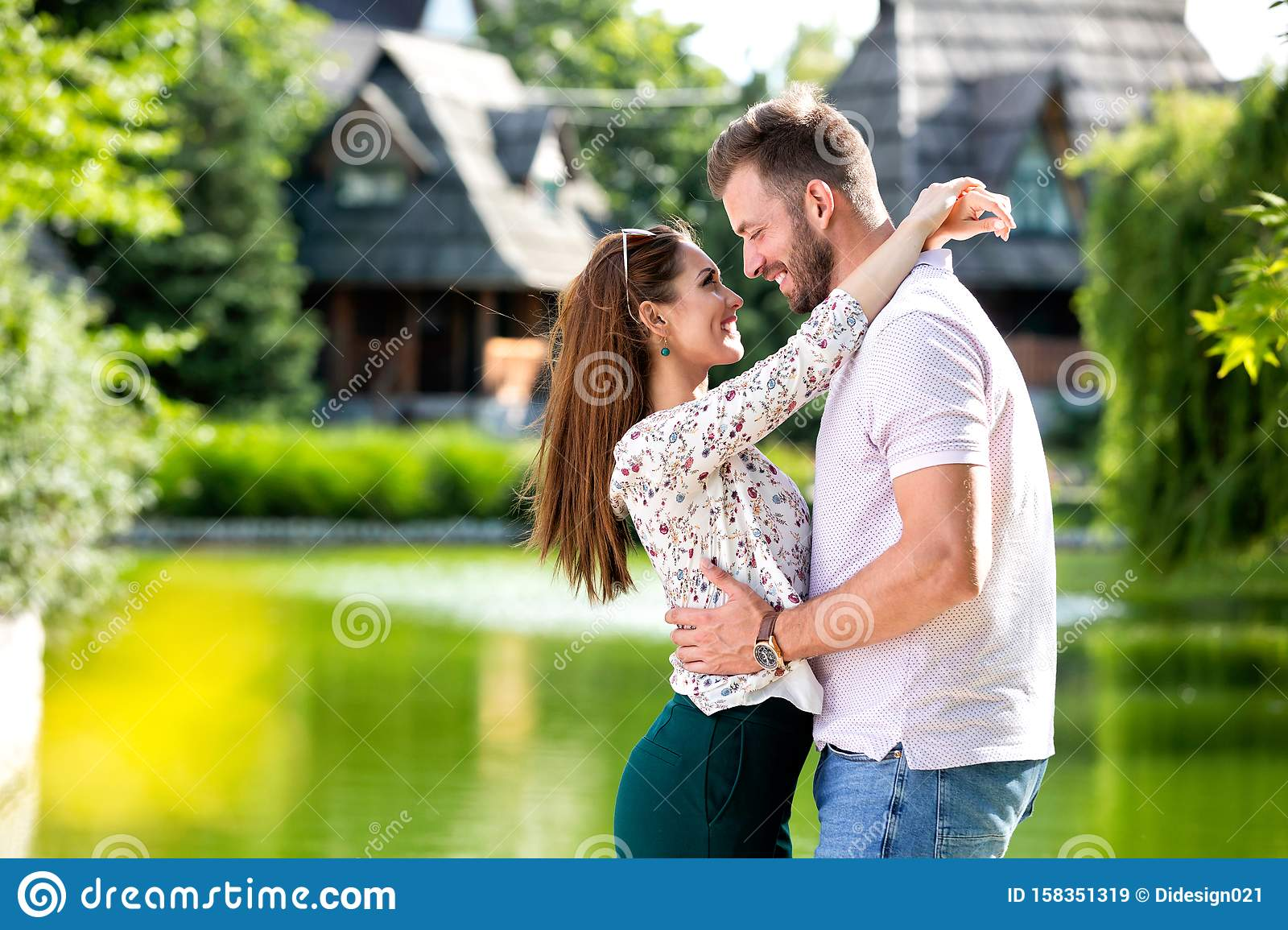 Hug Of True Love Between A Man And A Woman Stock Image
