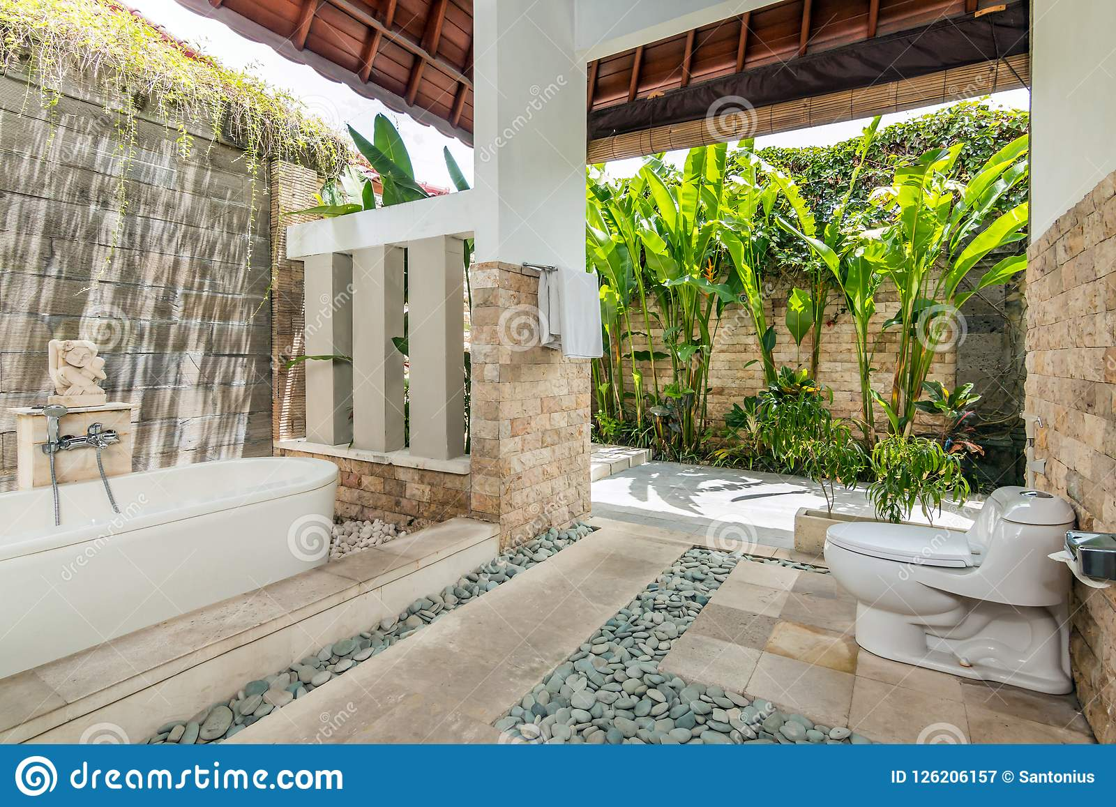 Clean And Cheap Villa Bathroom Editorial Photography - Image