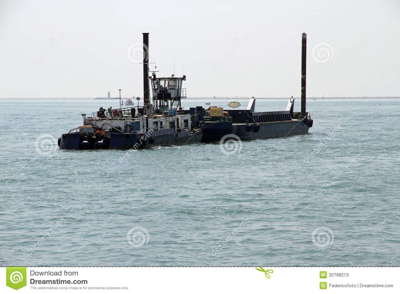 Boat Construction Materials : Huge boat for transporting building materials stock photos